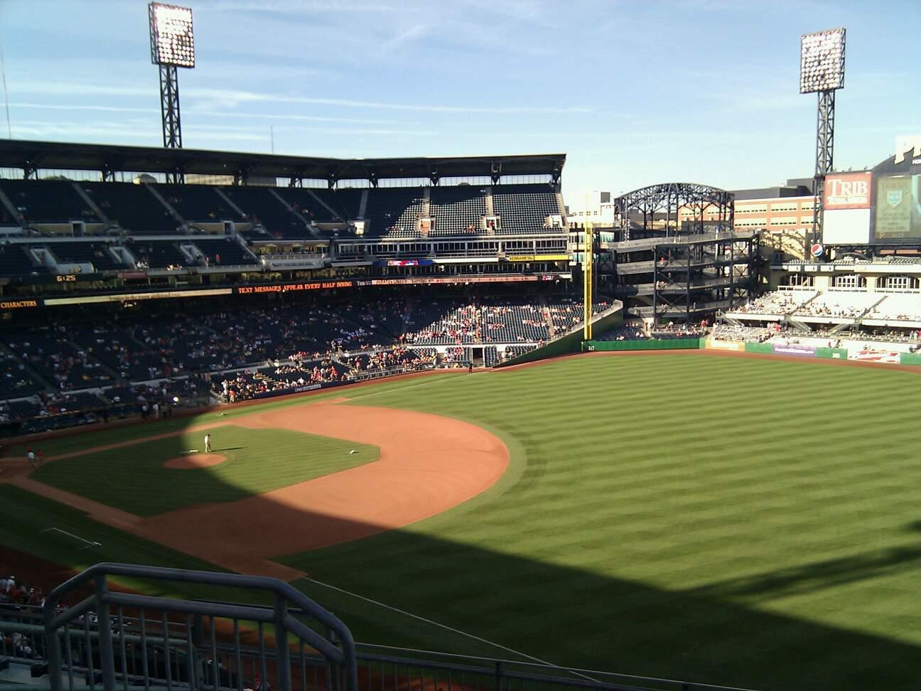 PNC Park Section 203 Row g Seat 10