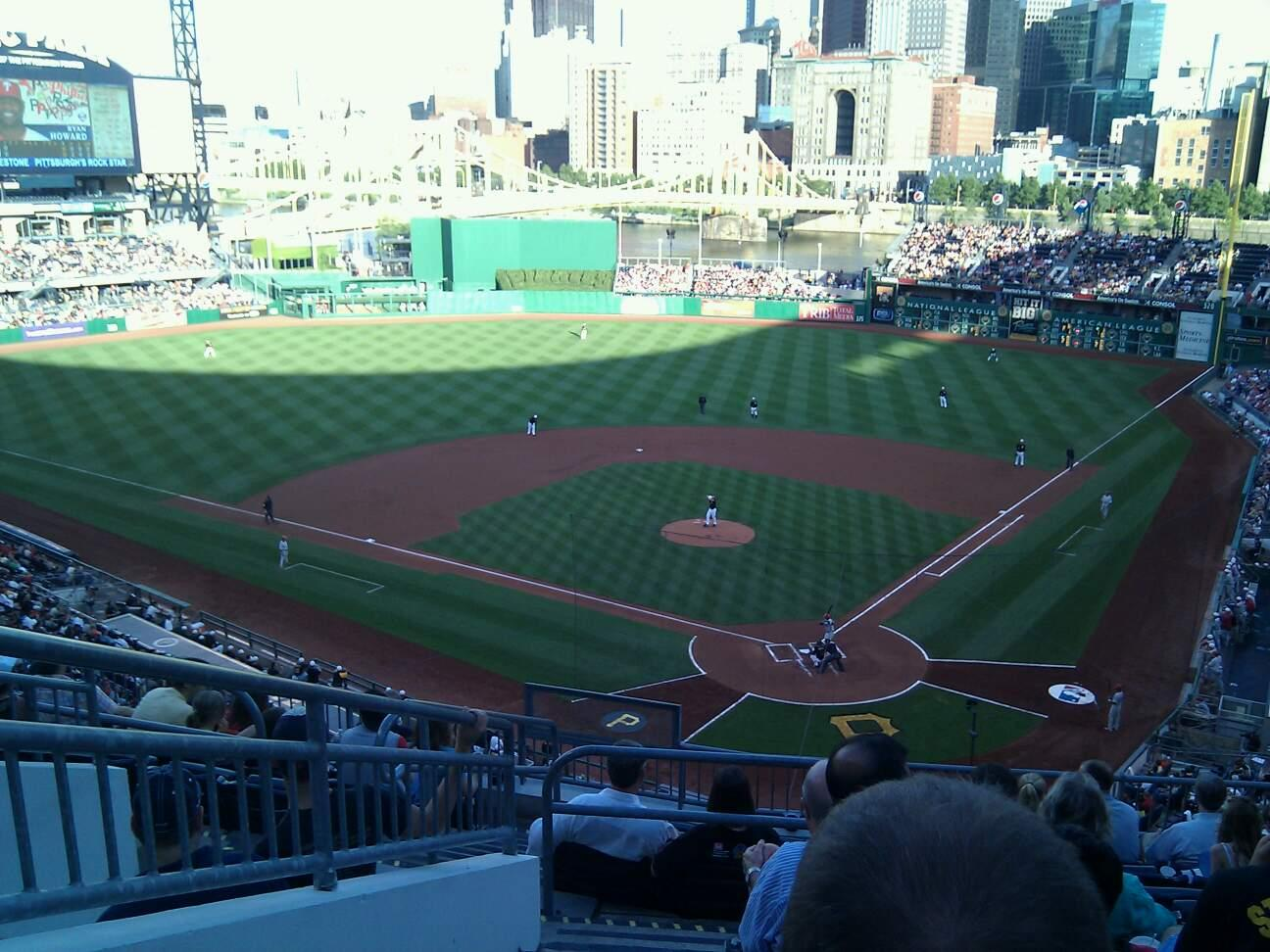 PNC Park Section 217 Row j Seat 17