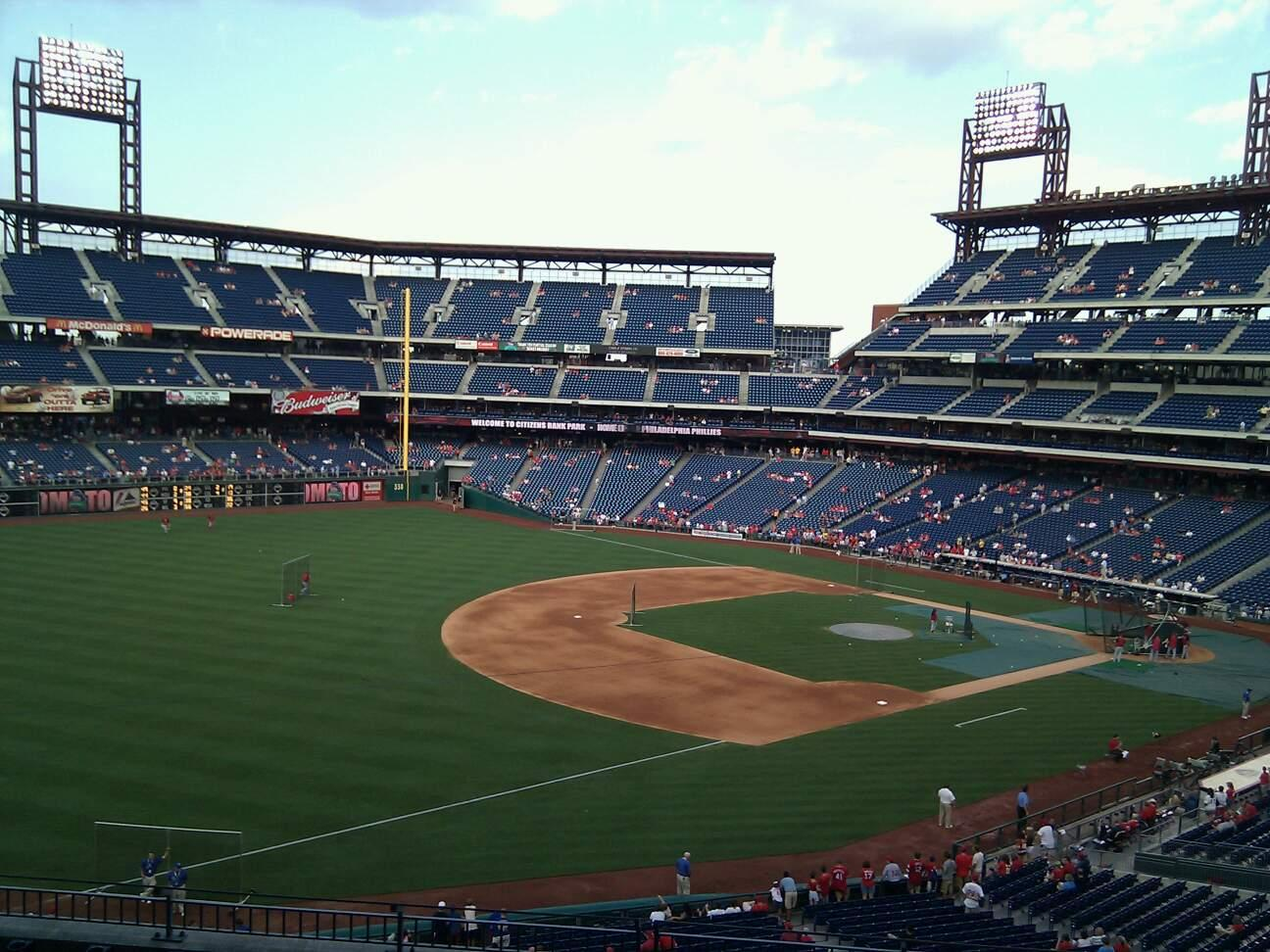 Citizens Bank Park Section 234 Row 8 Seat 9