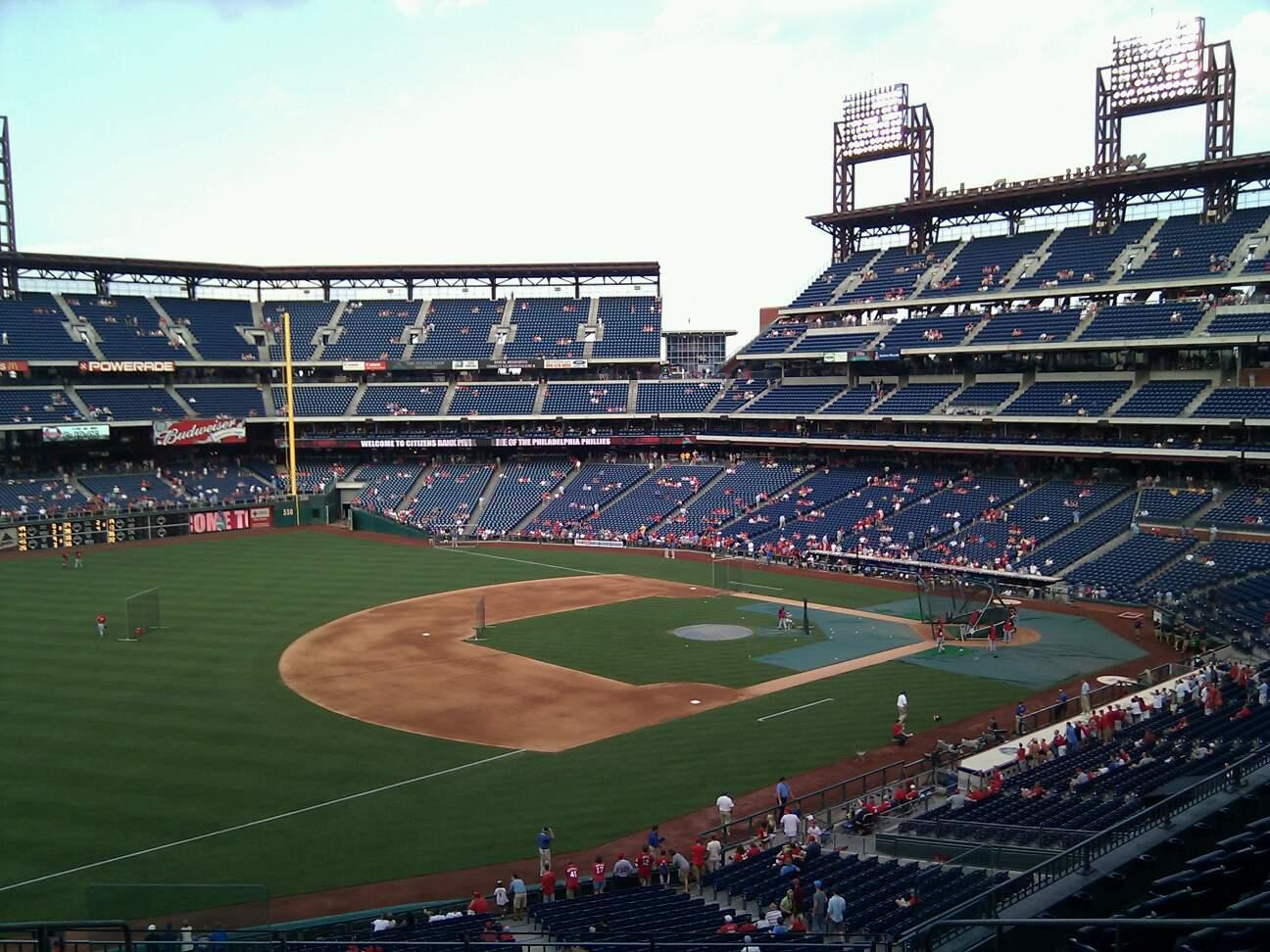 Citizens Bank Park Section 233 Row 9 Seat 10