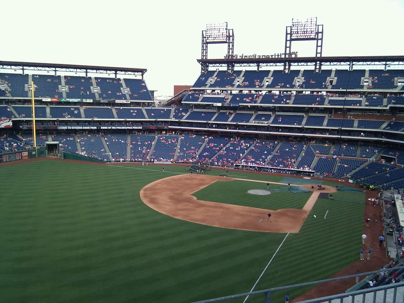 Citizens Bank Park Section 333 Row 3 Seat 21