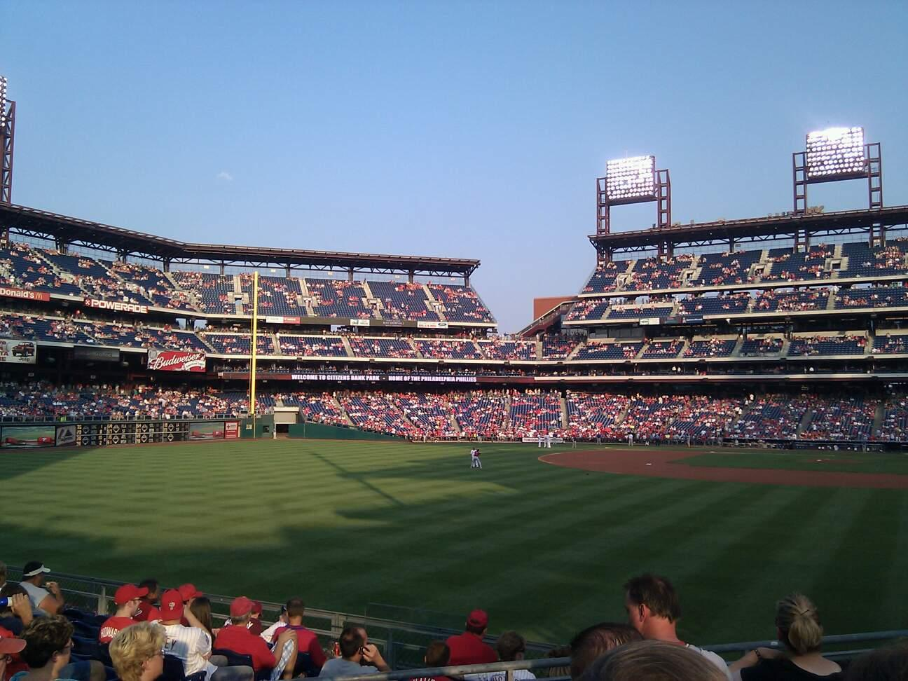 Citizens Bank Park  Section 141 Row 11 Seat 9