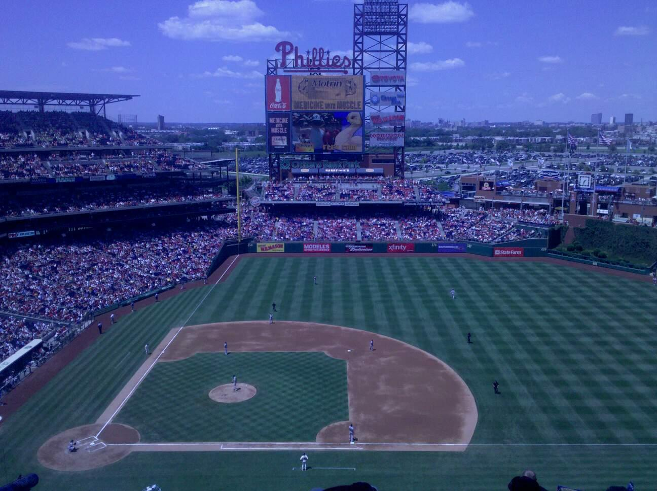 Citizens Bank Park Section 415 Row 9 Seat 9