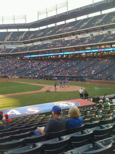 Globe Life Park in Arlington Section 19 Row 16 Seat 10