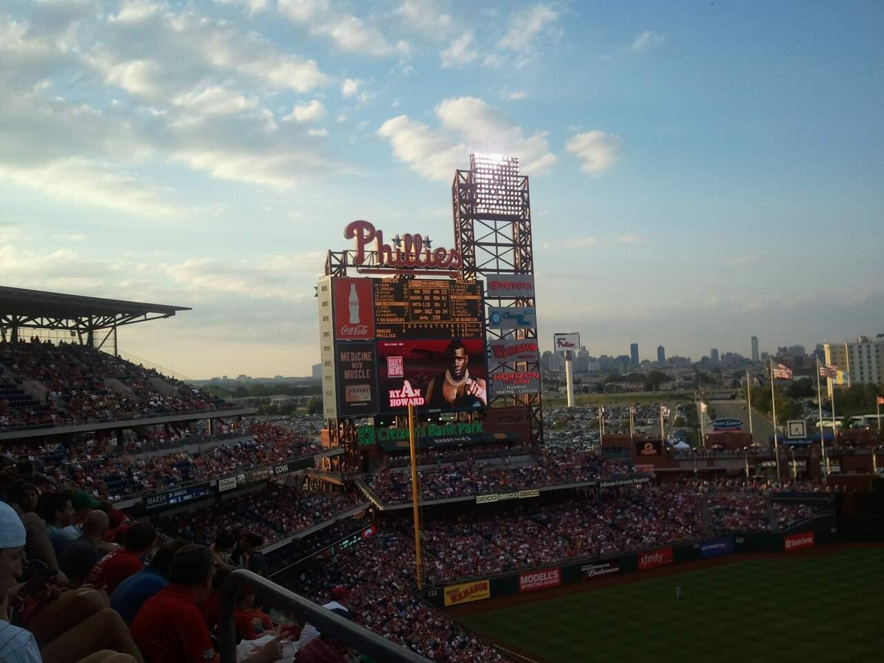Citizens Bank Park Section 424 Row 5 Seat 7