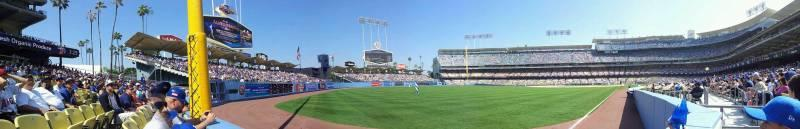 Dodger Stadium Section 49FD Row AA