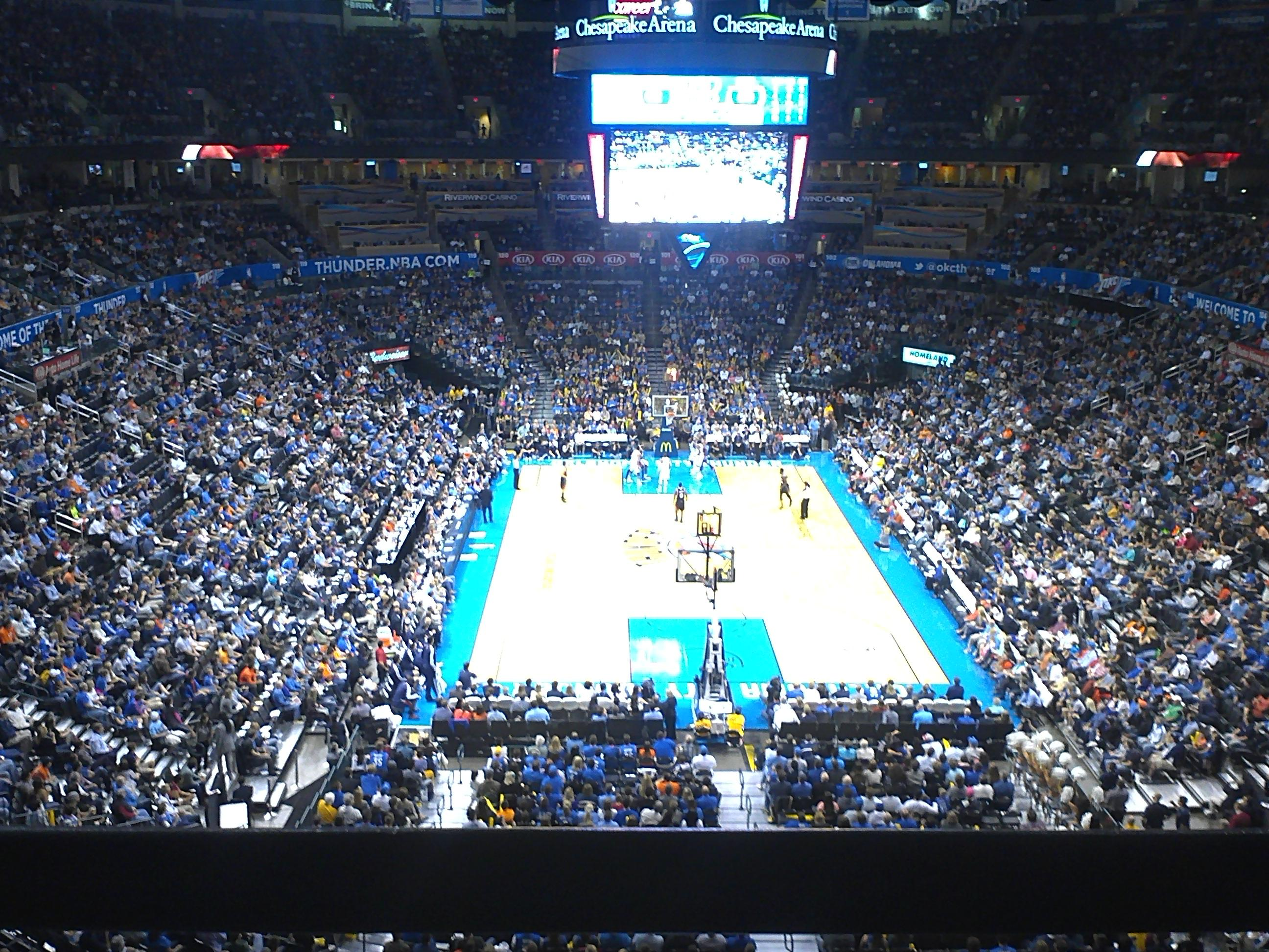 Chesapeake Energy Arena Section 316 Row A Seat 3-4