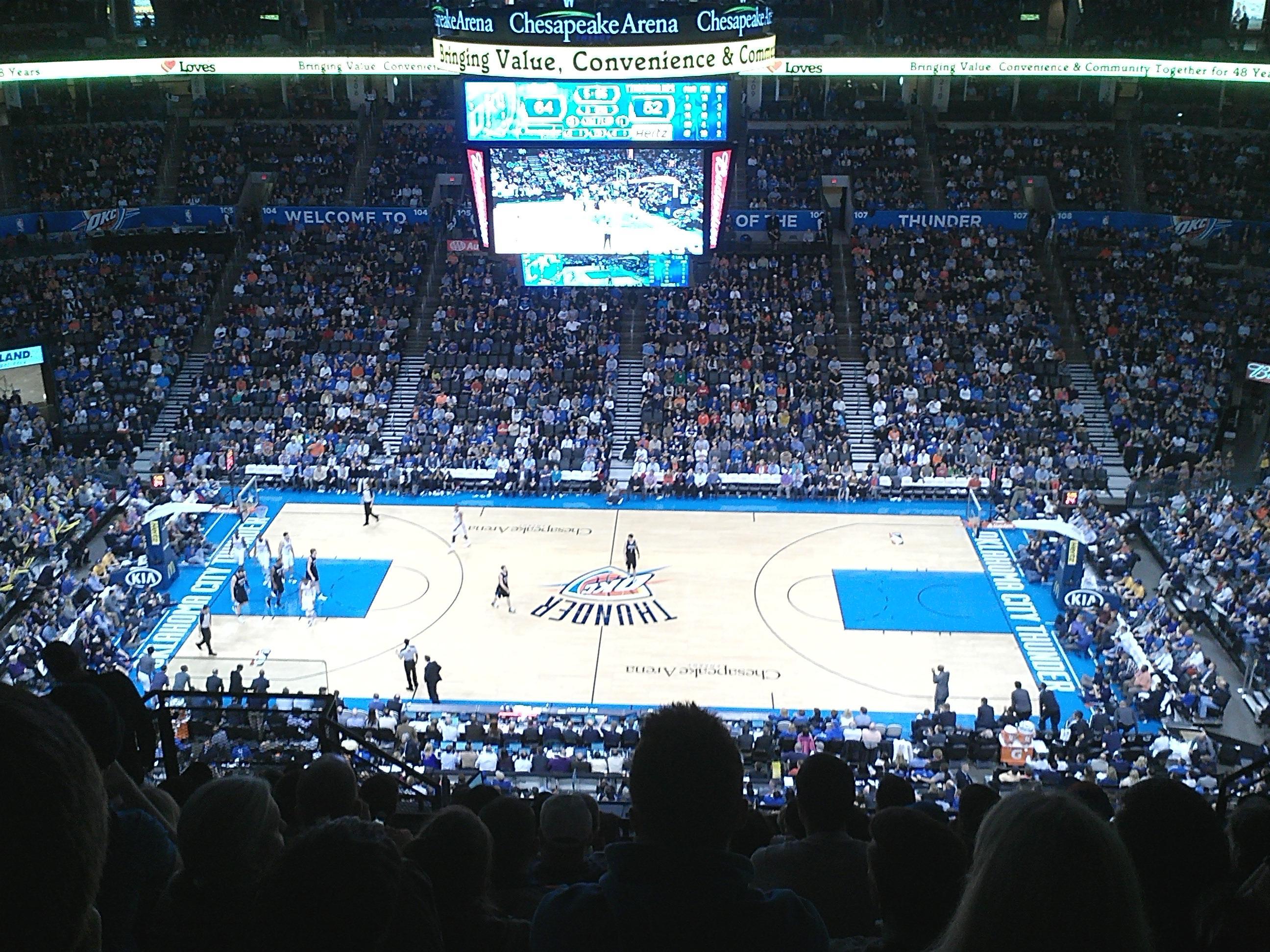 Chesapeake Energy Arena Section 323 Row L Seat 16 Oklahoma