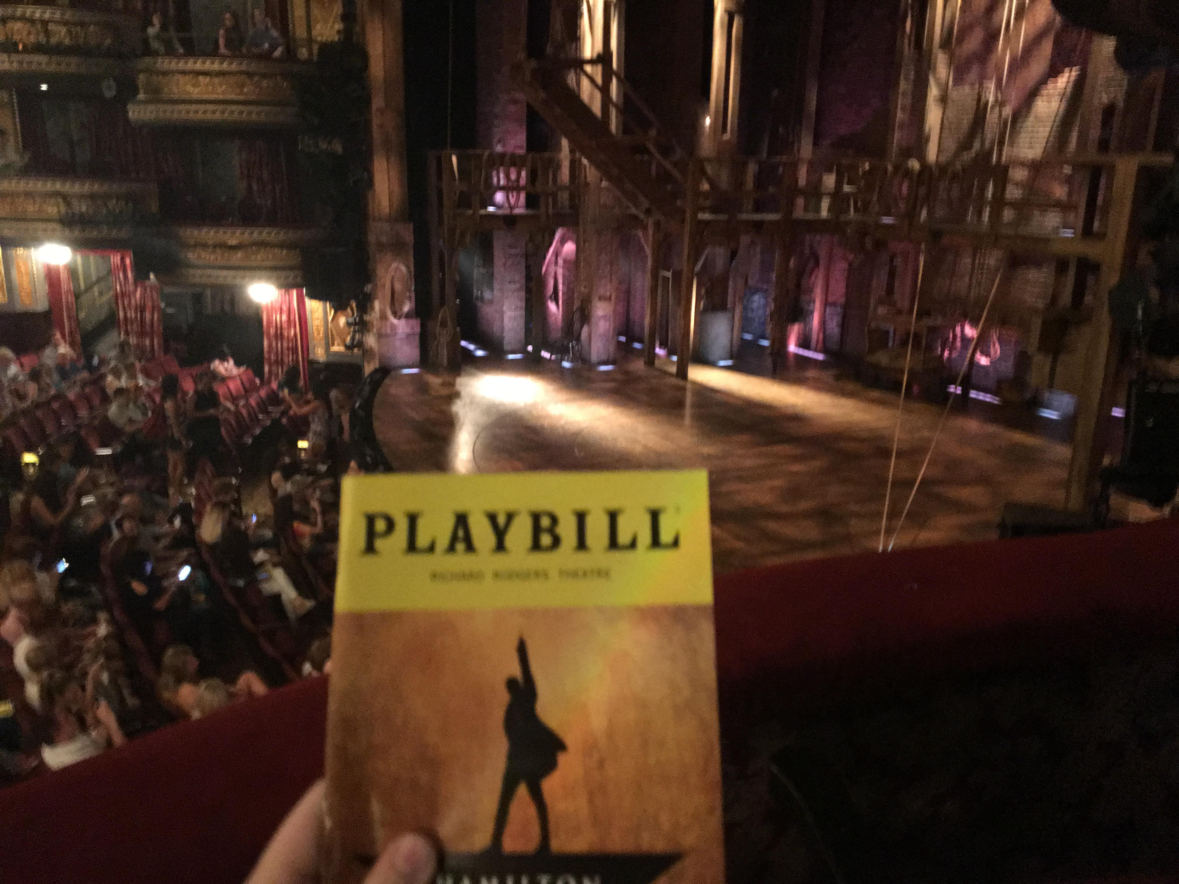 Richard Rodgers Theatre Section Box E Row 1 Seat 2