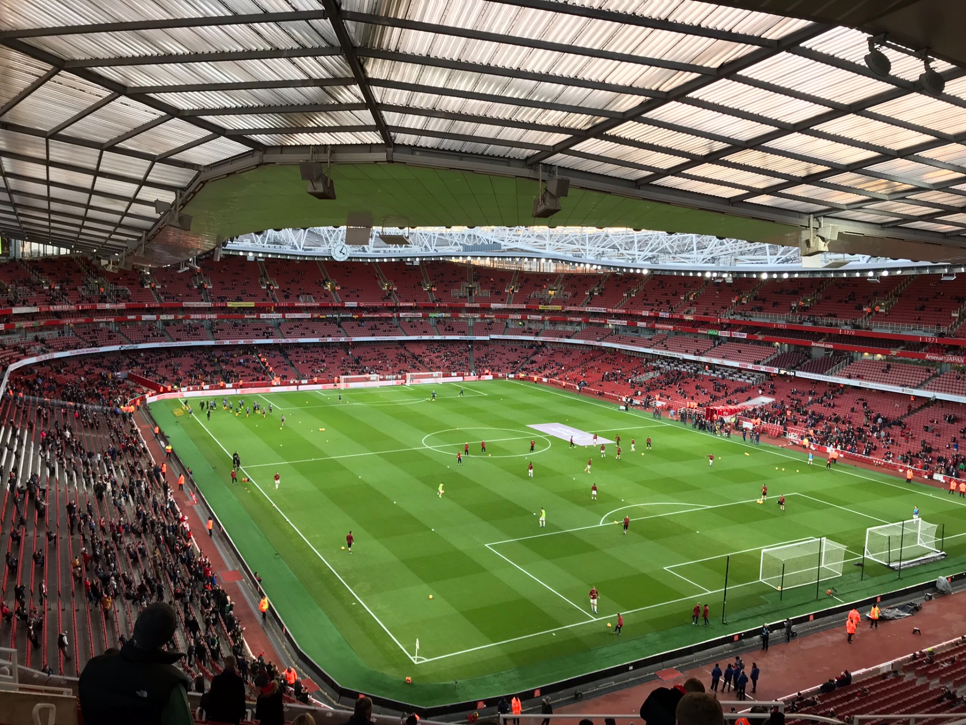 Emirates Stadium Section 105 Row 19 Seat 410