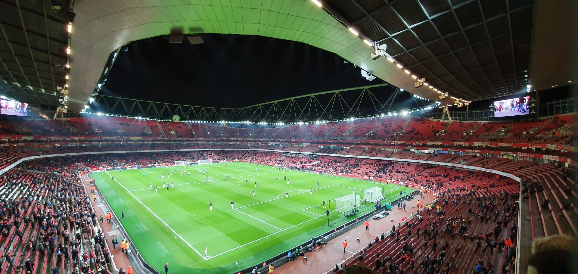 Emirates Stadium Section 106 Row 2 Seat 417