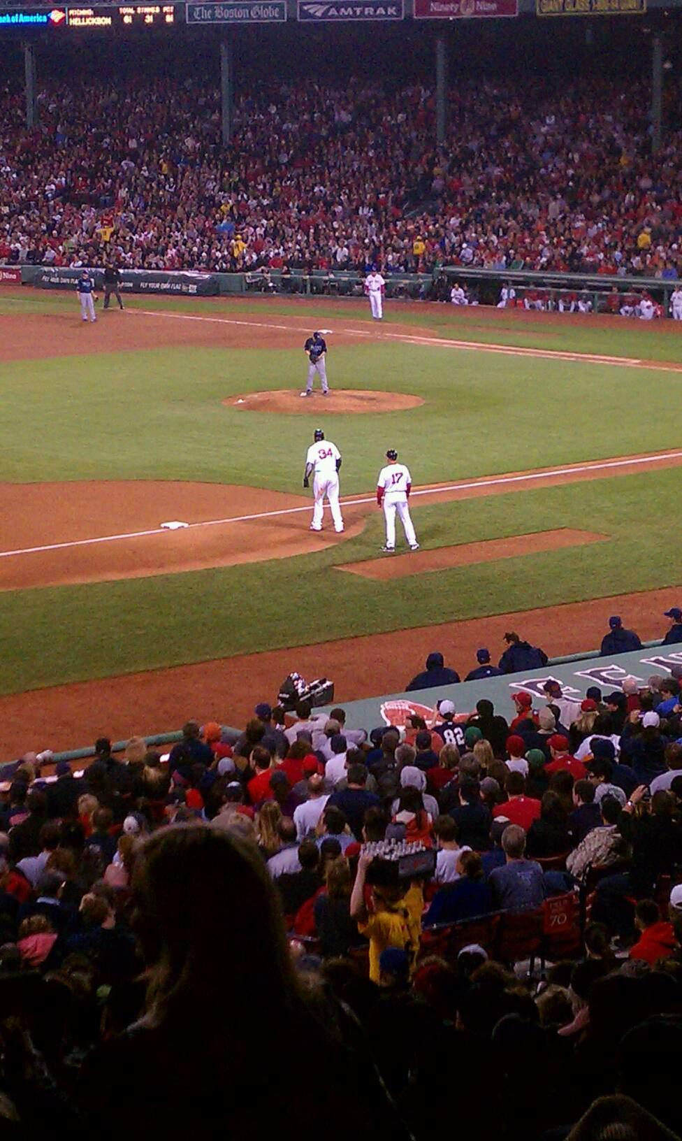 Fenway Park Section Grandstand 29 Row 8 Seat 17
