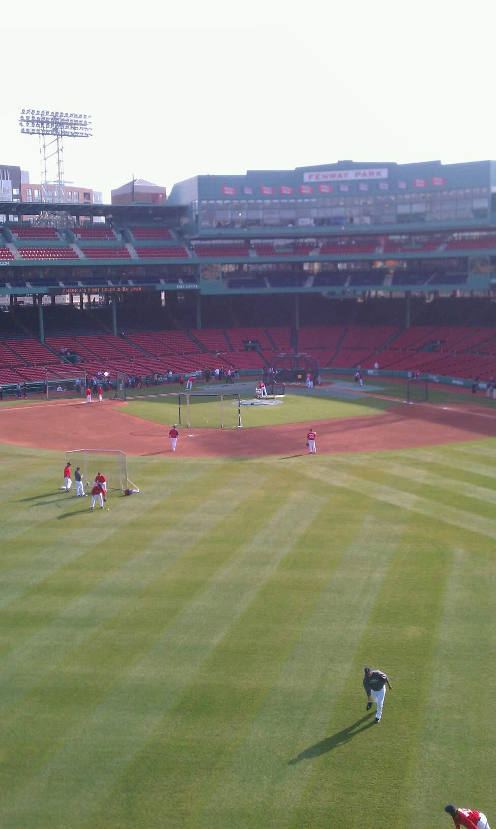 Fenway Park Section Green Monster 7 Row 1 Seat 3