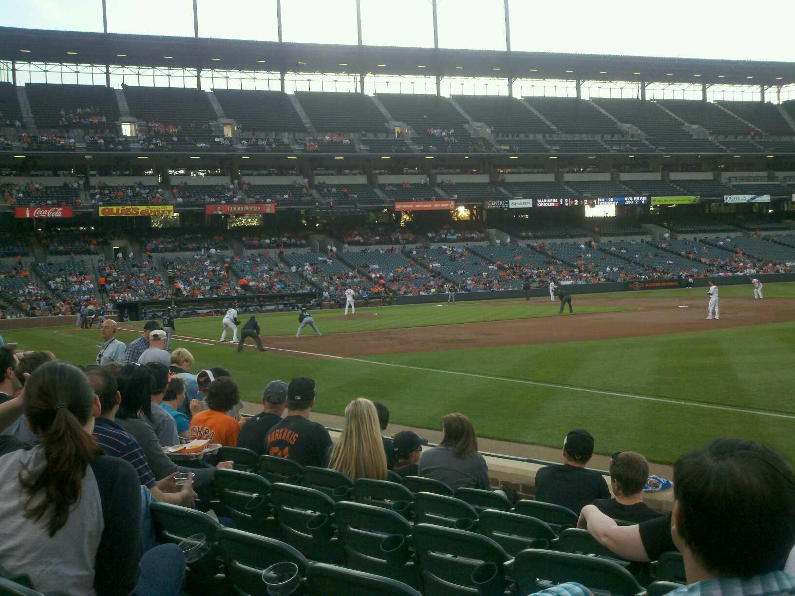 Oriole Park at Camden Yards Section 12 Row 6 Seat 4