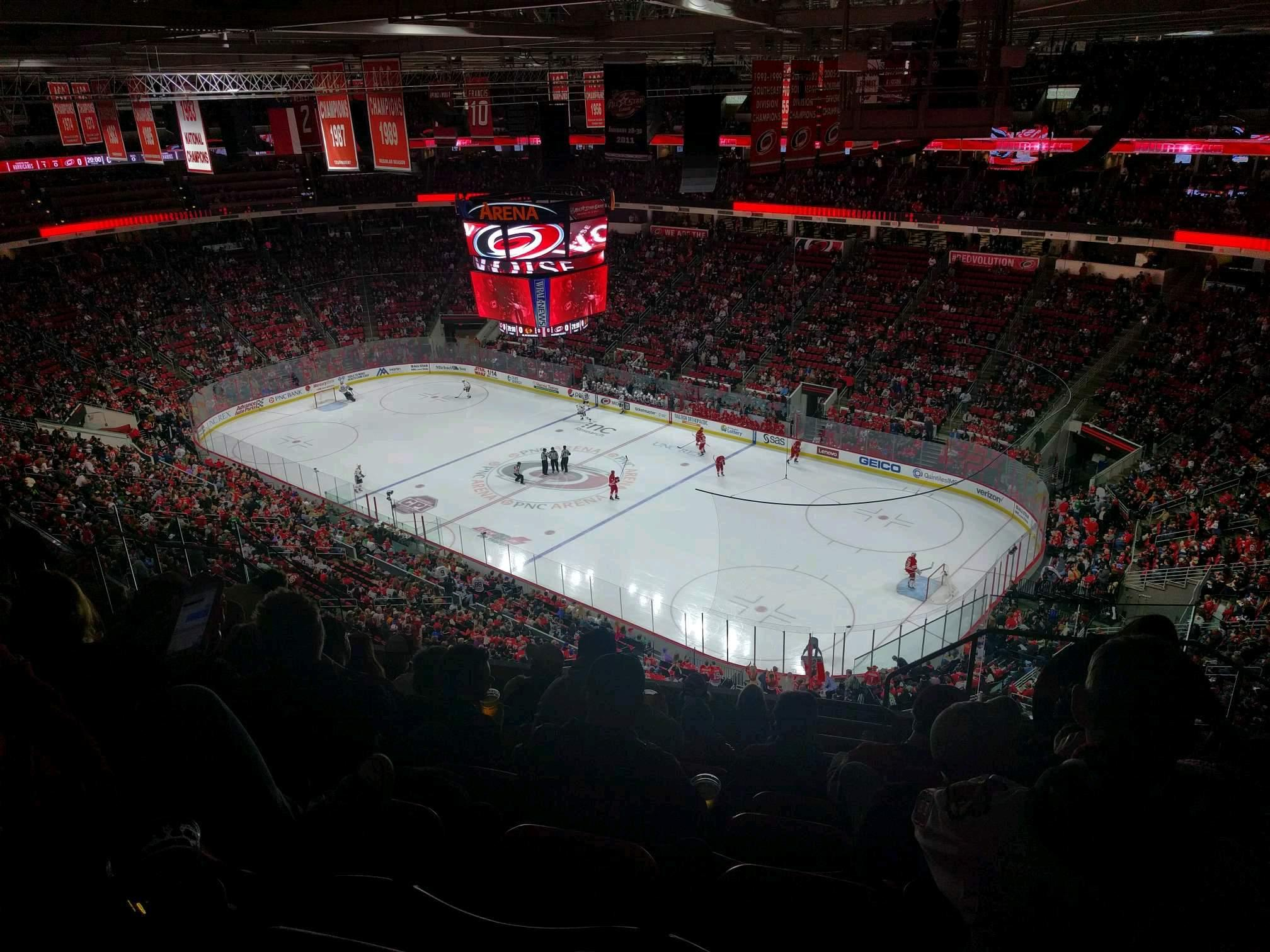 PNC Arena Section 320 Row J Seat 3