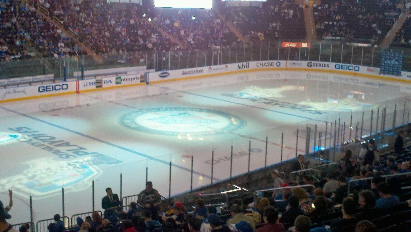 Madison Square Garden Section 209 Row C Seat 7 New York Rangers Vs New Jersey Devils Shared By