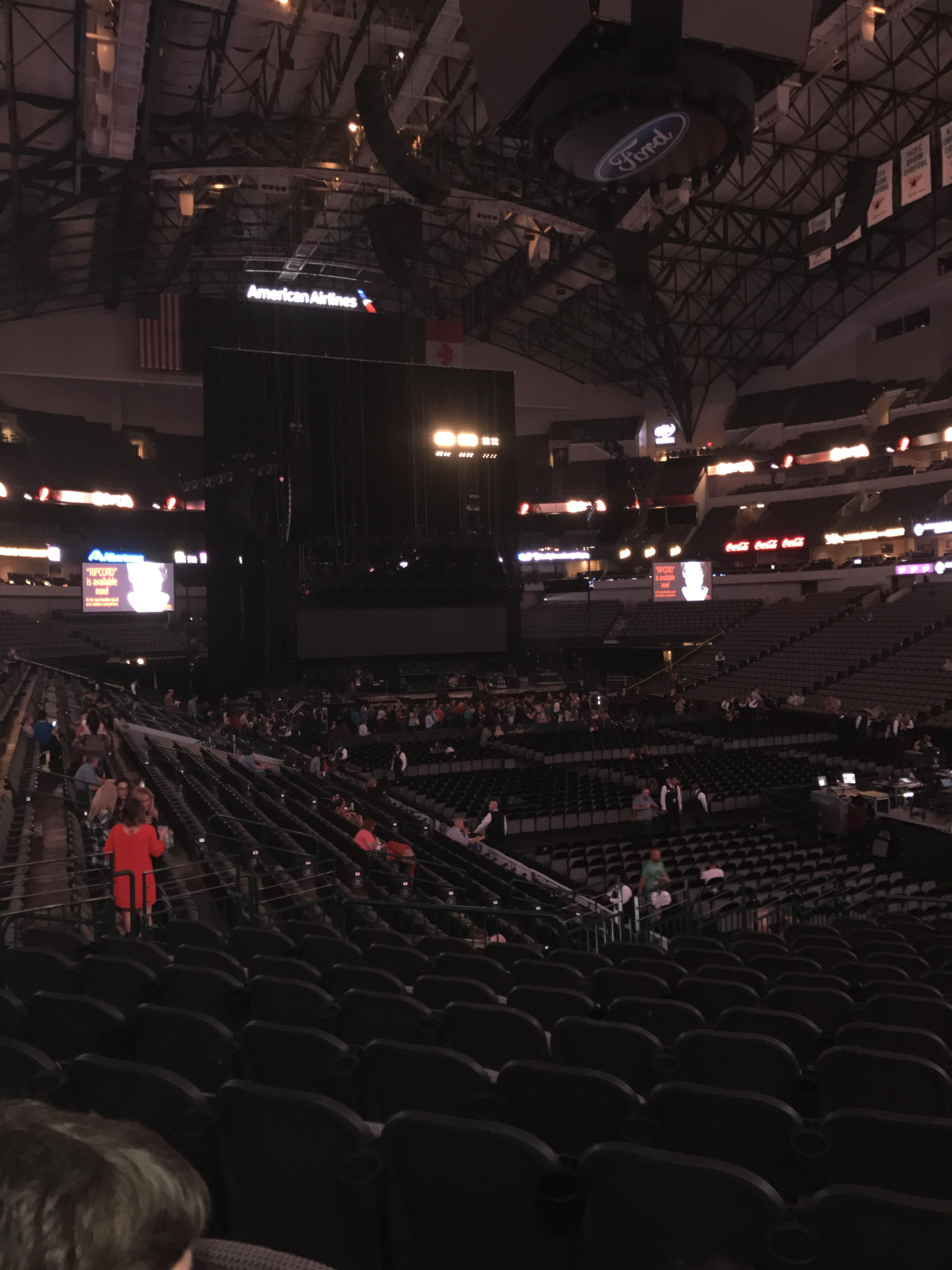 American Airlines Center Section 115 Row T Seat 4