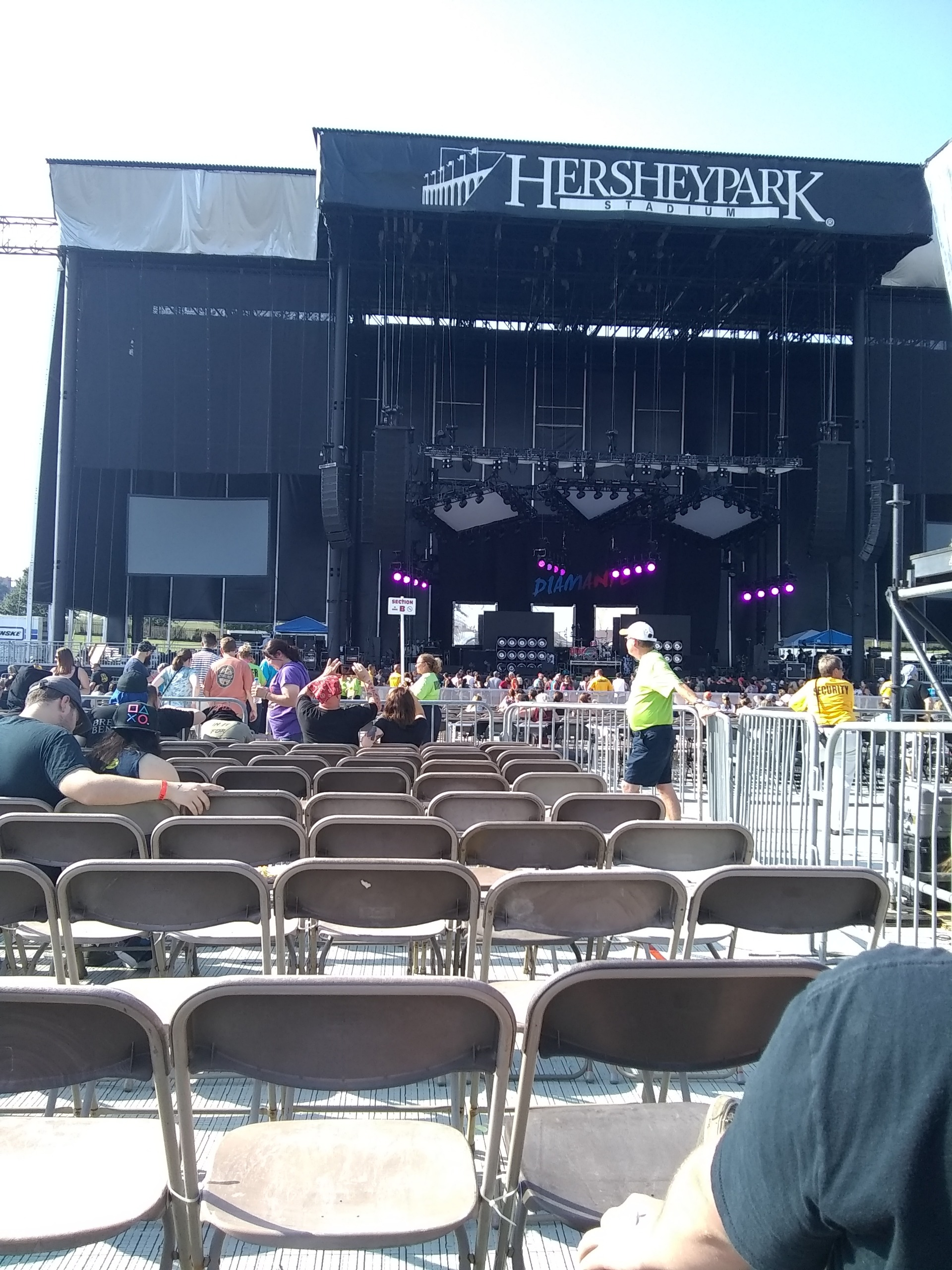 Hershey Park Stadium Section E Row 11 Seat 3