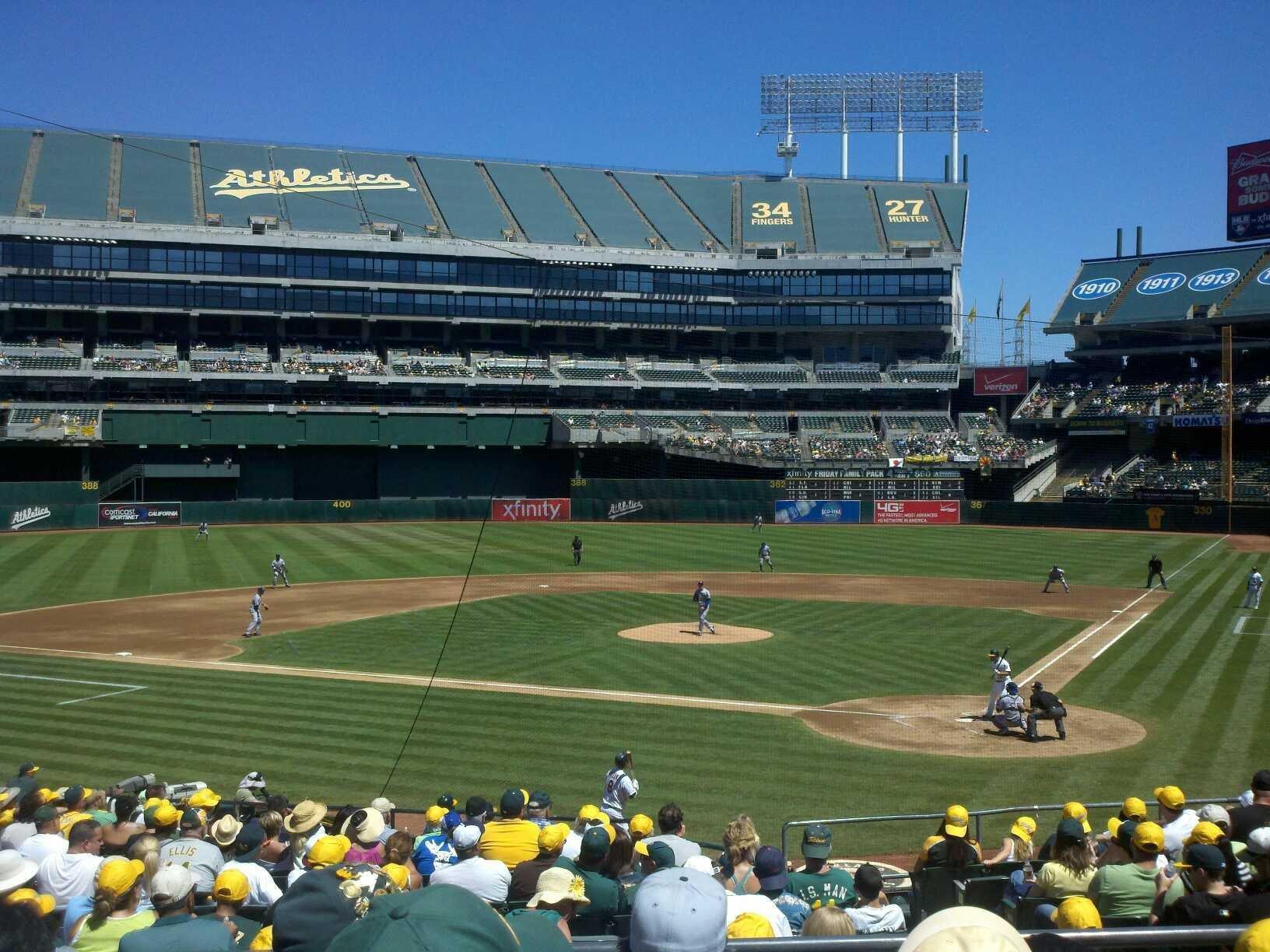 Oakland Coliseum Section 119R Row 25 Seat 6