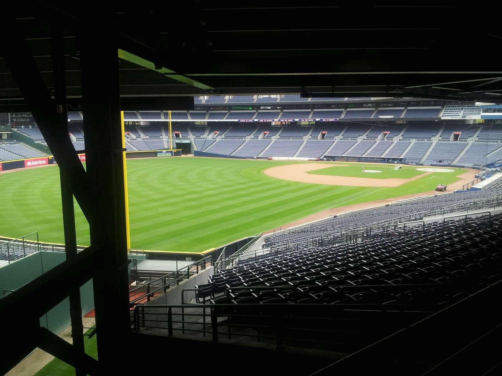Turner Field Section 328L Row 6 Seat 101