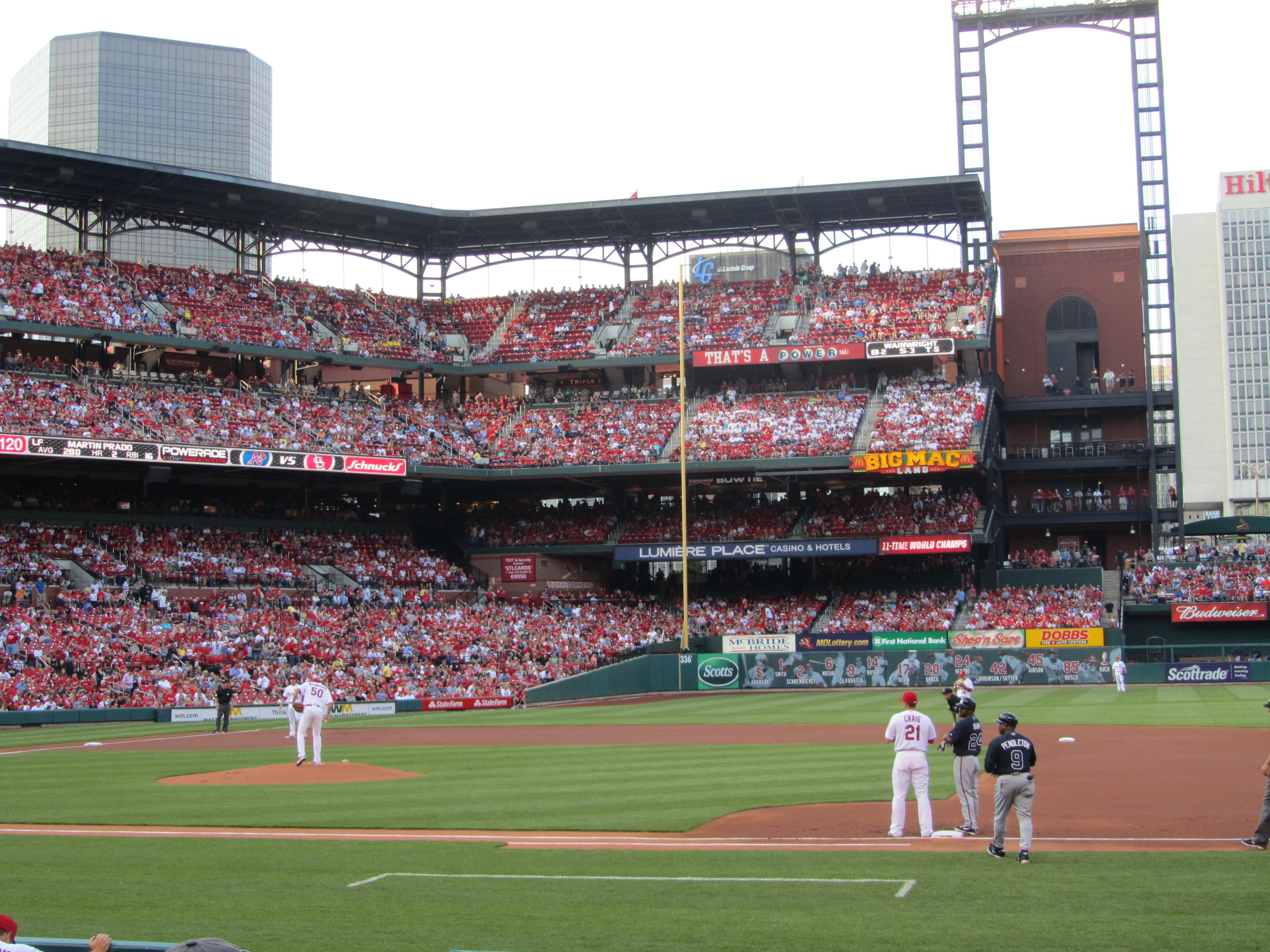 BUSCH STADIUM section 143 row 1 seat 12 - St. Louis ...