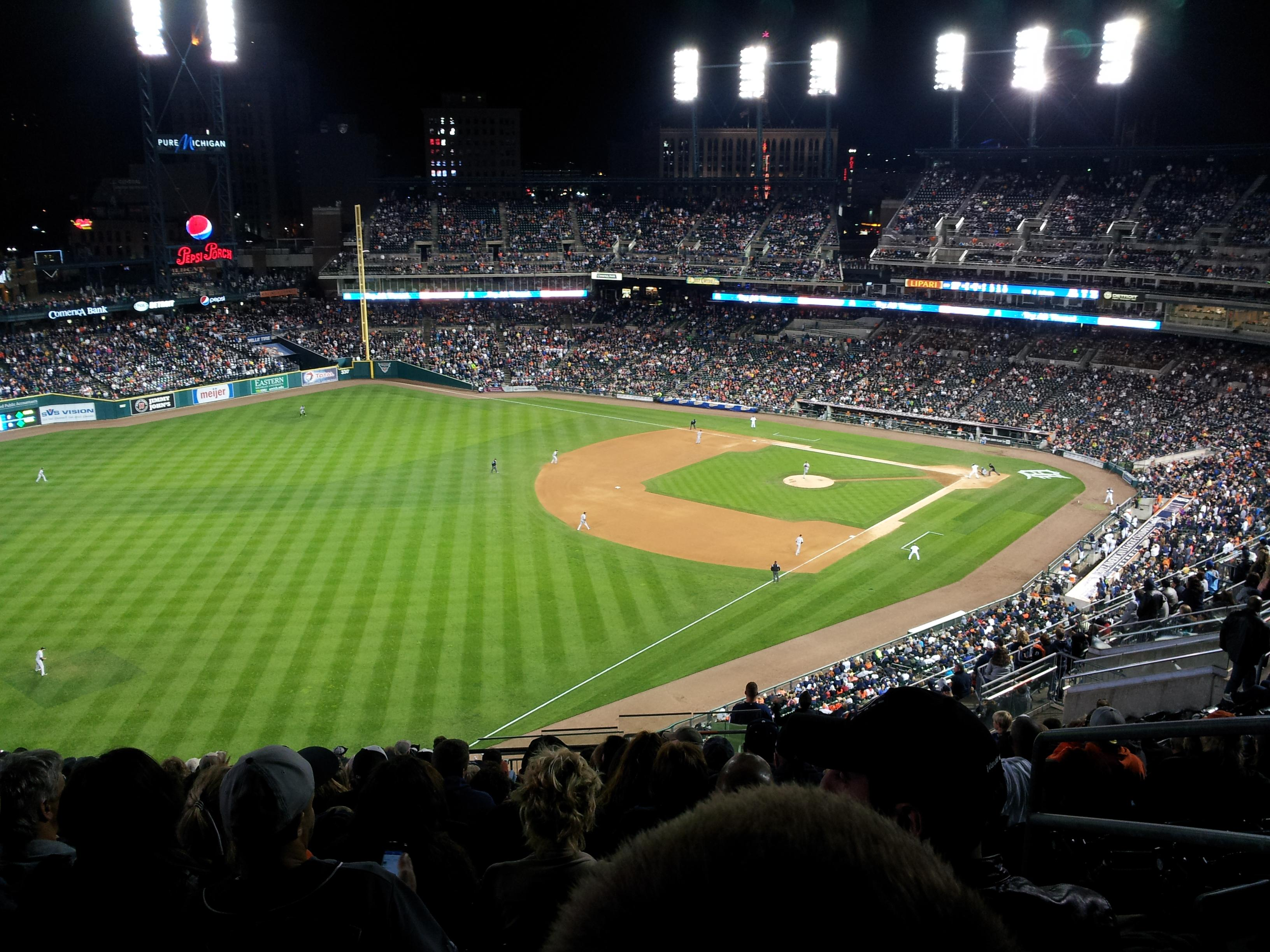 Comerica Park Section 343 Row 19 Seat 4
