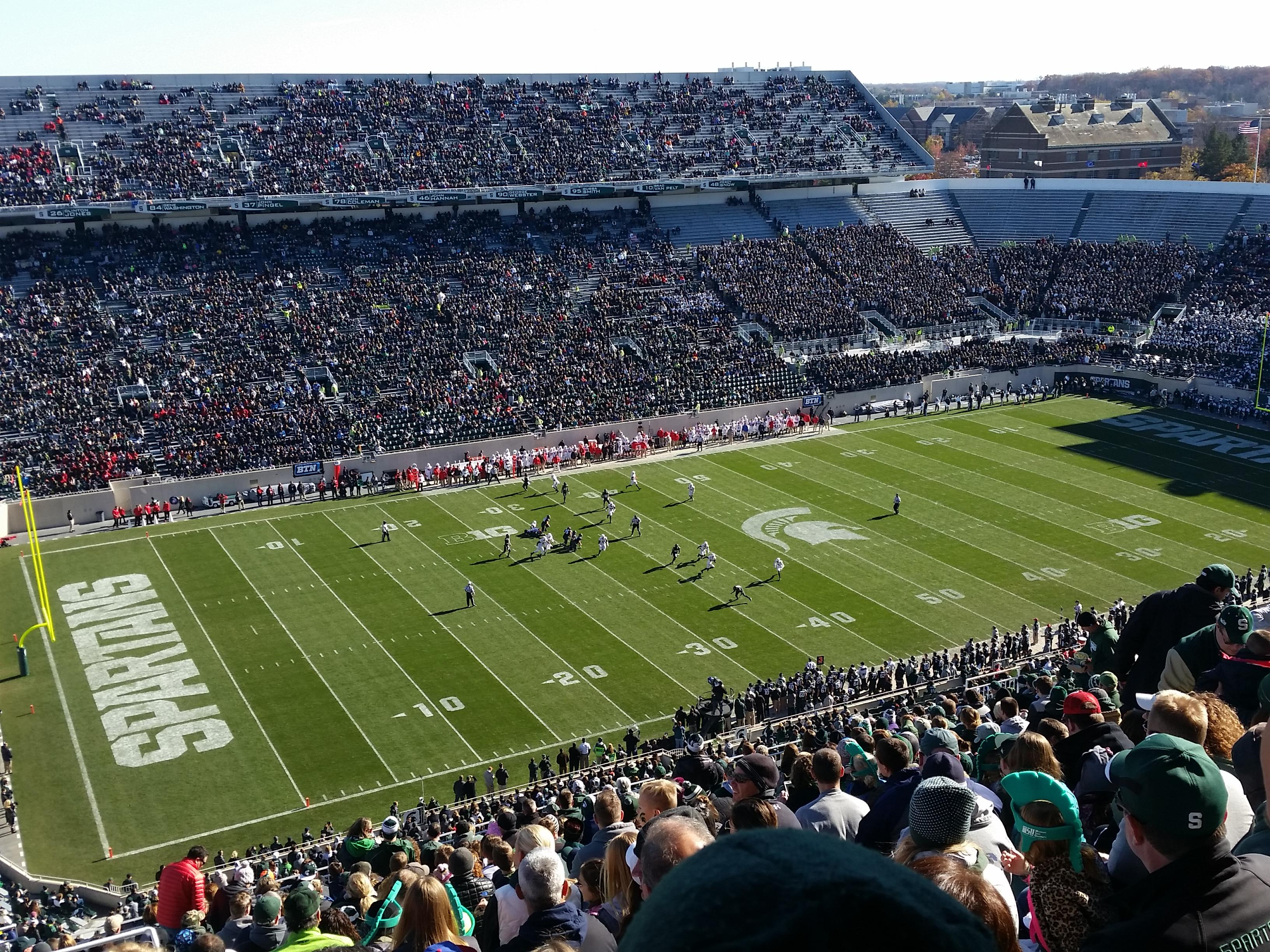 Spartan Stadium Section 127 Row 28 Seat 20