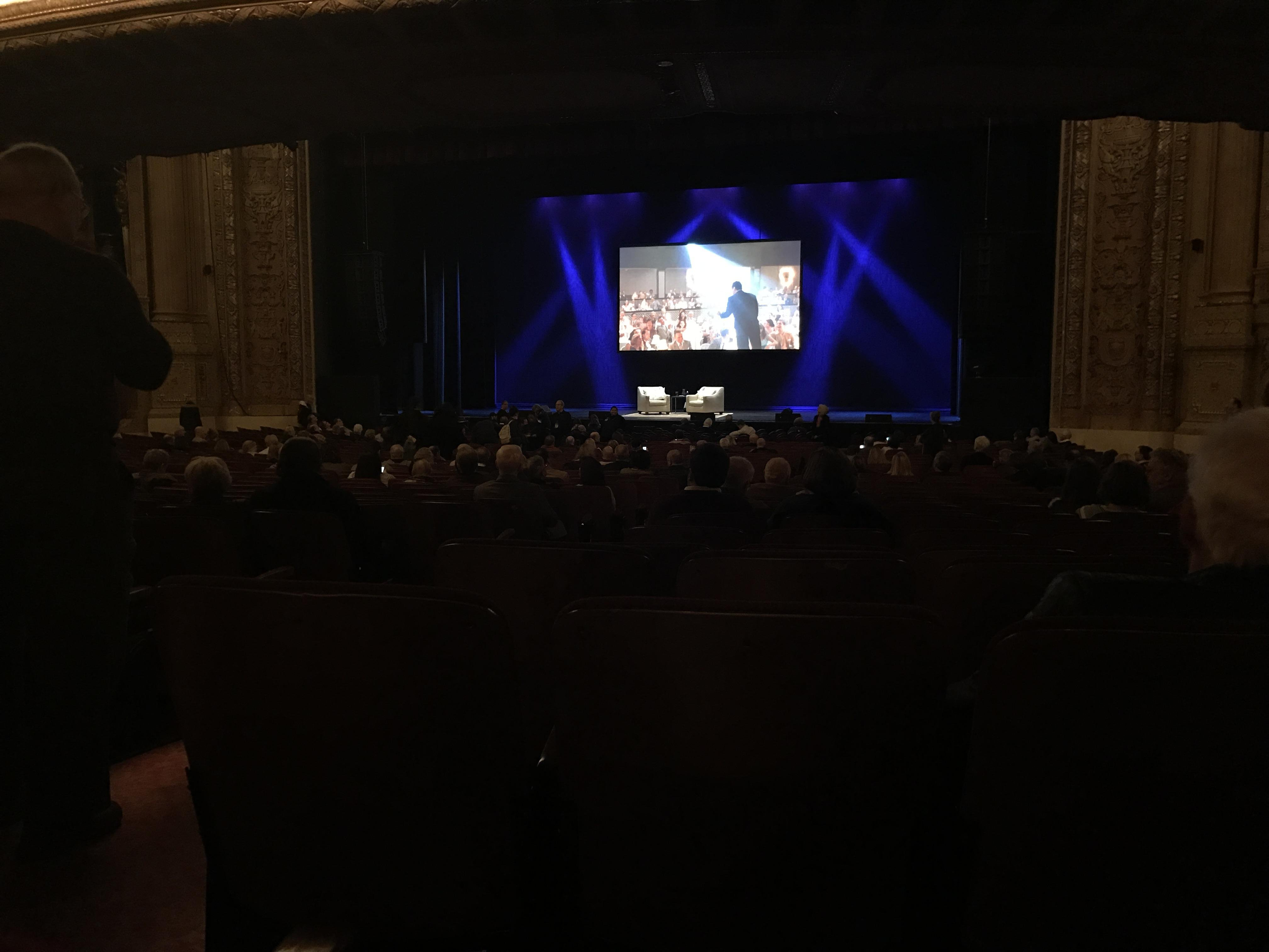 Chicago Theatre Section MNFL3R Row R Seat 302