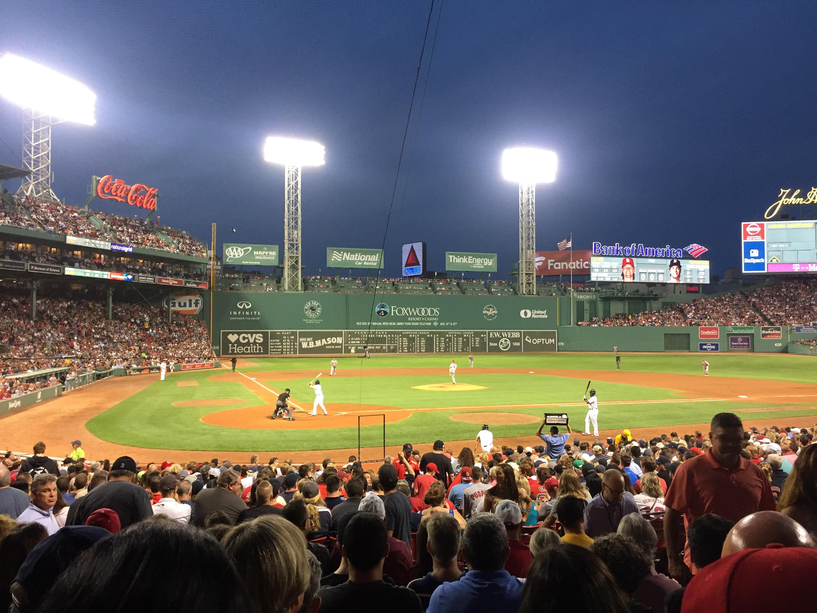 Fenway Park Section Loge Box 125 Row Gg Seat 6