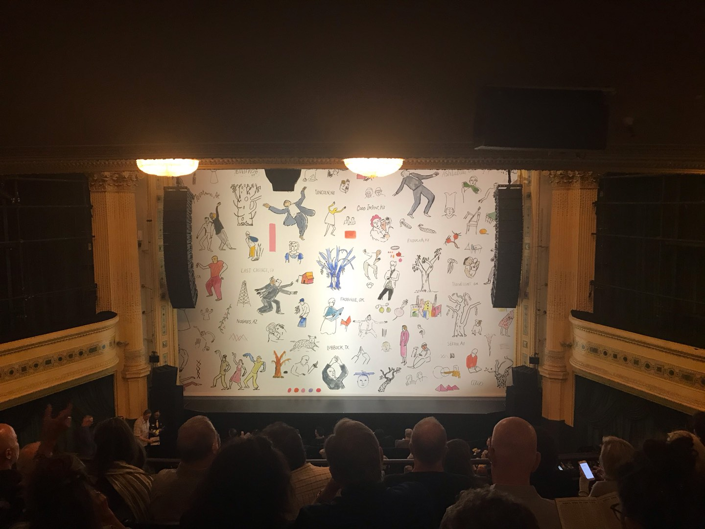 Hudson Theatre Section Dress Circle C Row G Seat 109
