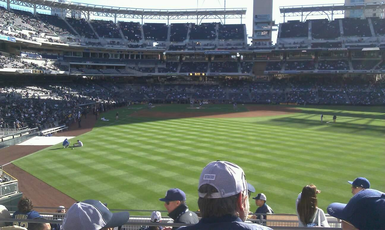 PETCO Park Section 131 Row 9 Seat 20