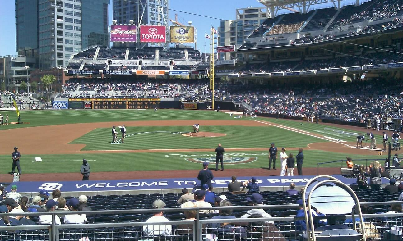 PETCO Park Section 108 Row 26 Seat 18