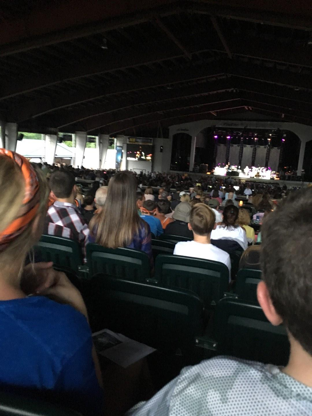 Bank of New Hampshire Pavilion Section 3C Row 7 Seat 19