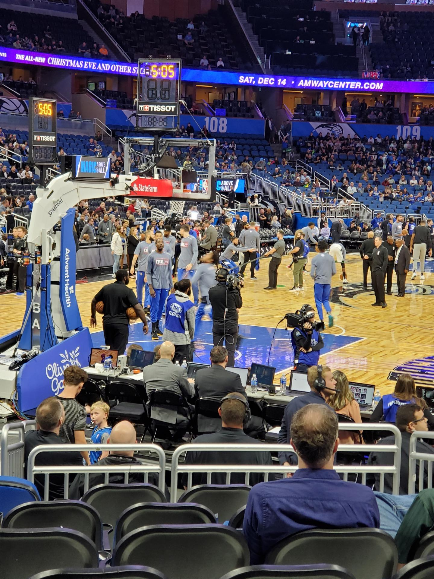 Amway Center Section 118 Row 6 Seat 6