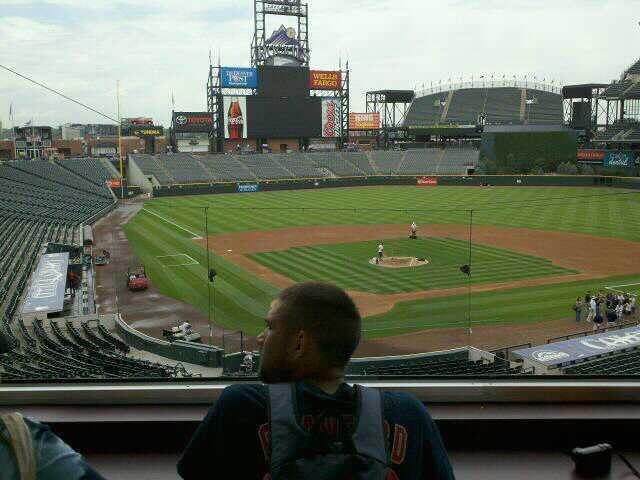Coors Field Section Press Box Row 2 Seat 2