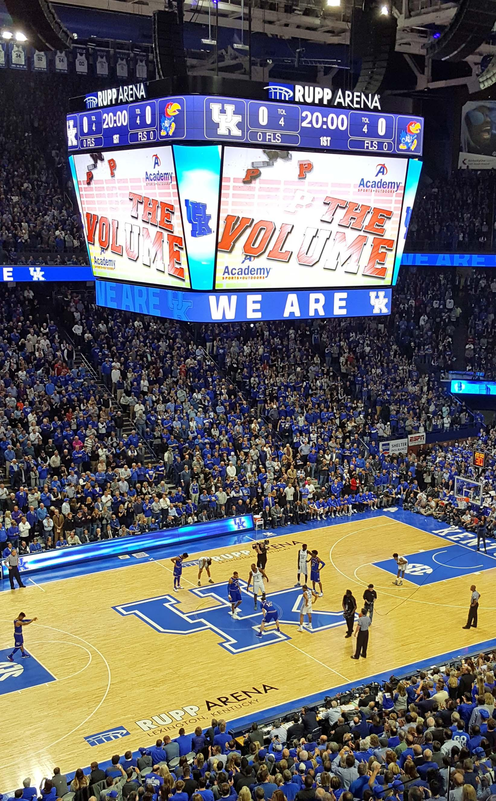 Rupp Arena Section 215 Row D Seat 20
