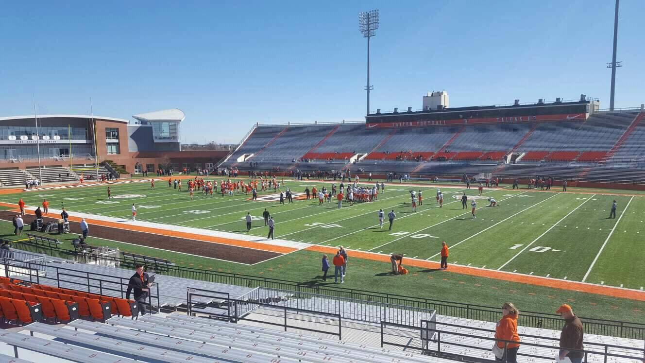 Doyt Perry Stadium Section 8 Row 25 Seat 18