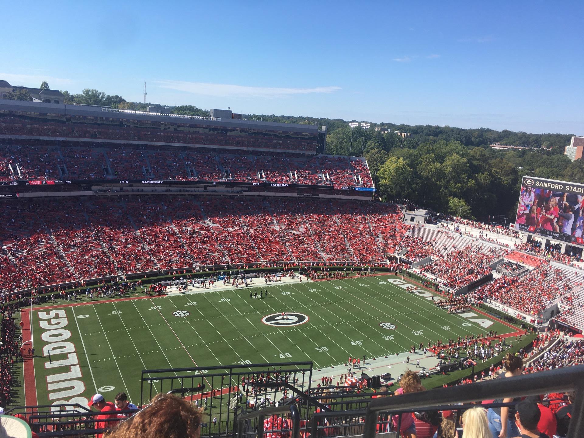 Sanford Stadium Section 611 Row 13 Seat 1