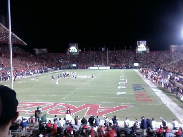 Arizona Stadium Section 27 Row 23 Seat 10