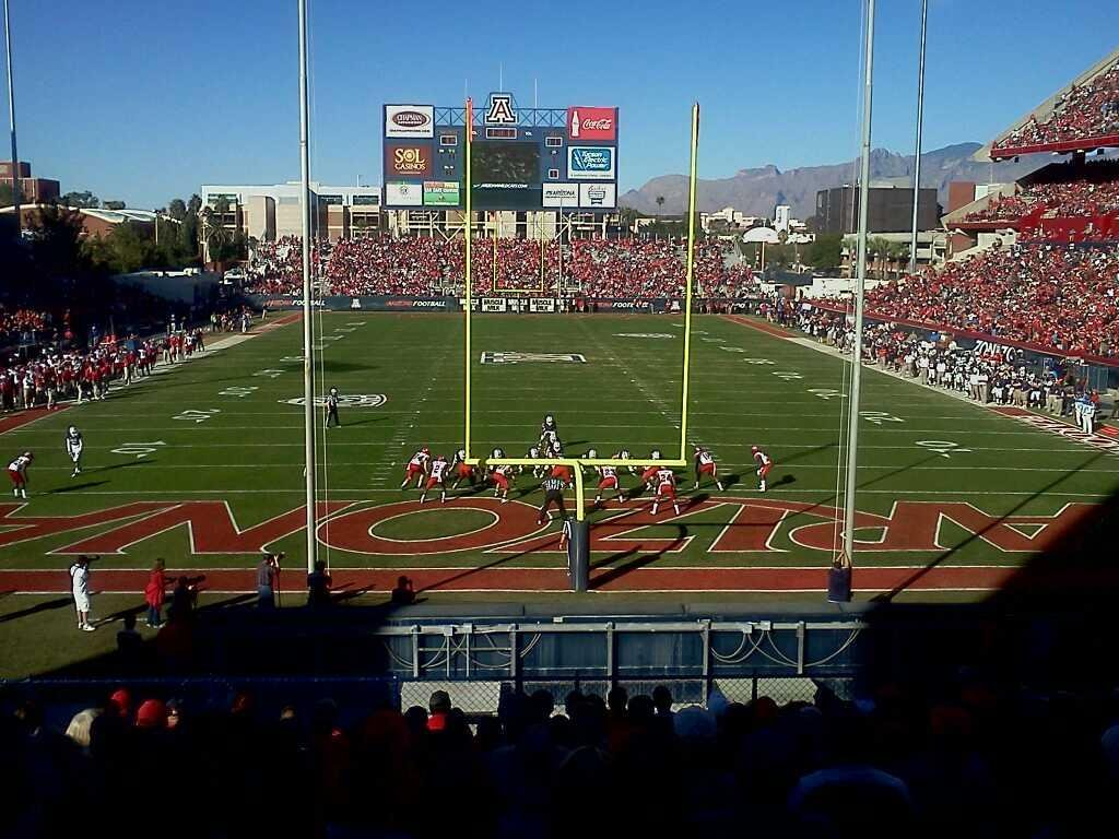 Arizona Stadium Section 12 Row 30 Seat 16