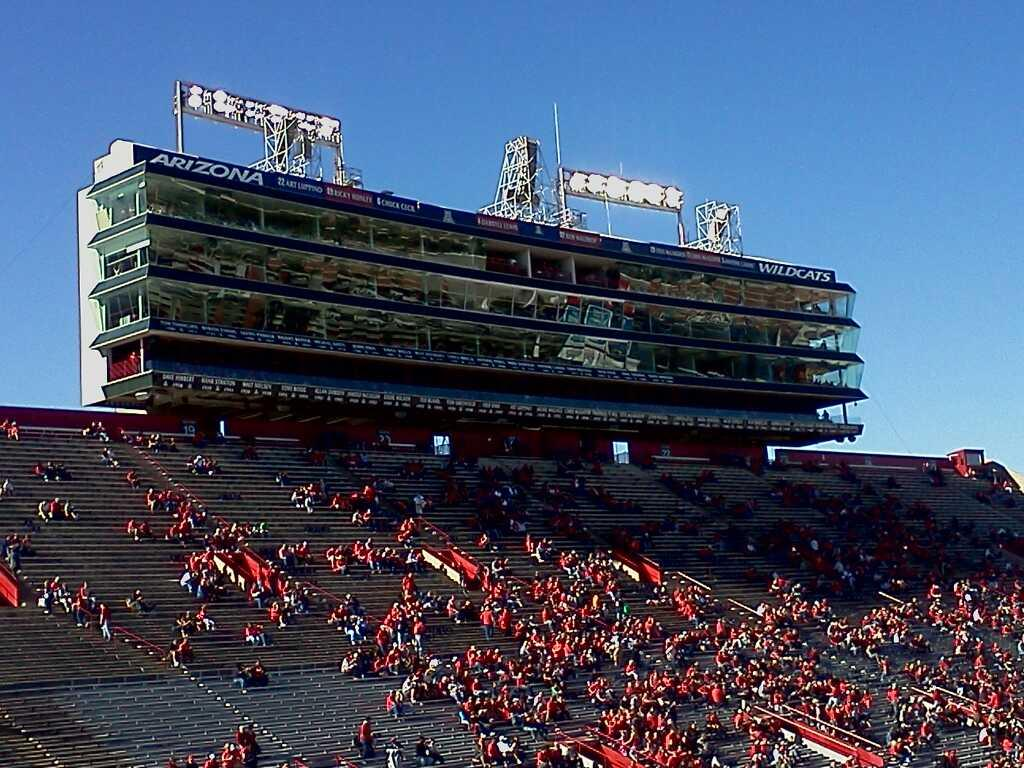Arizona Stadium Section 12 Row 30 Seat 16