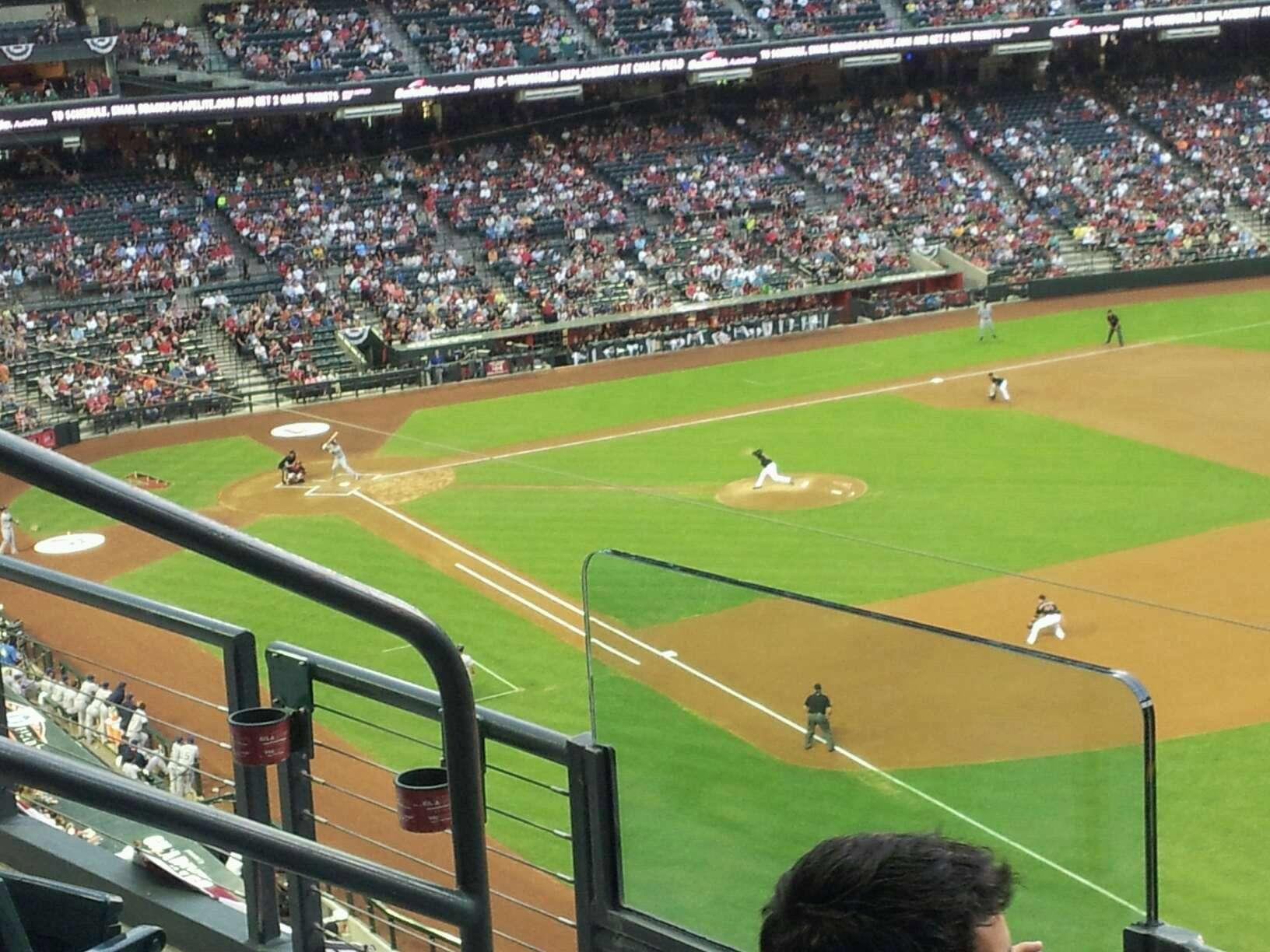 Chase Field Section 303 Row 3 Seat 5