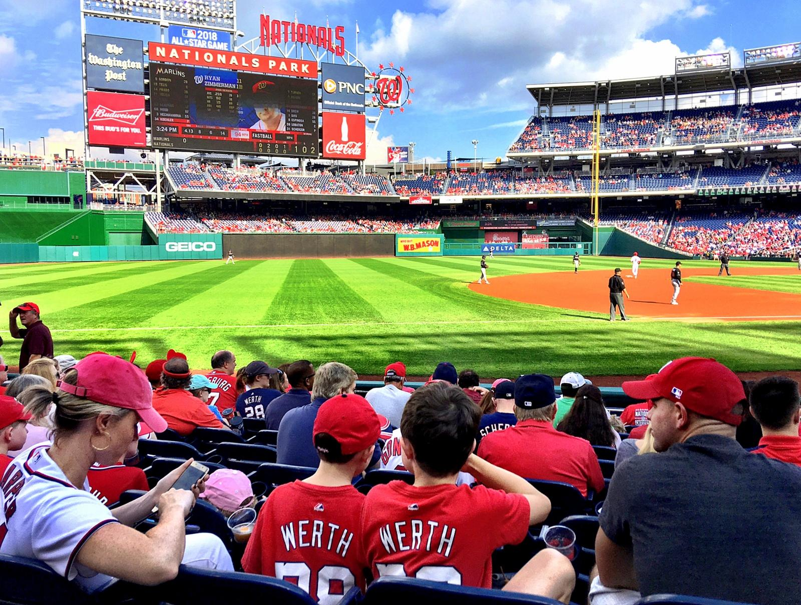Nationals Park Section 113 Row M Seat 8