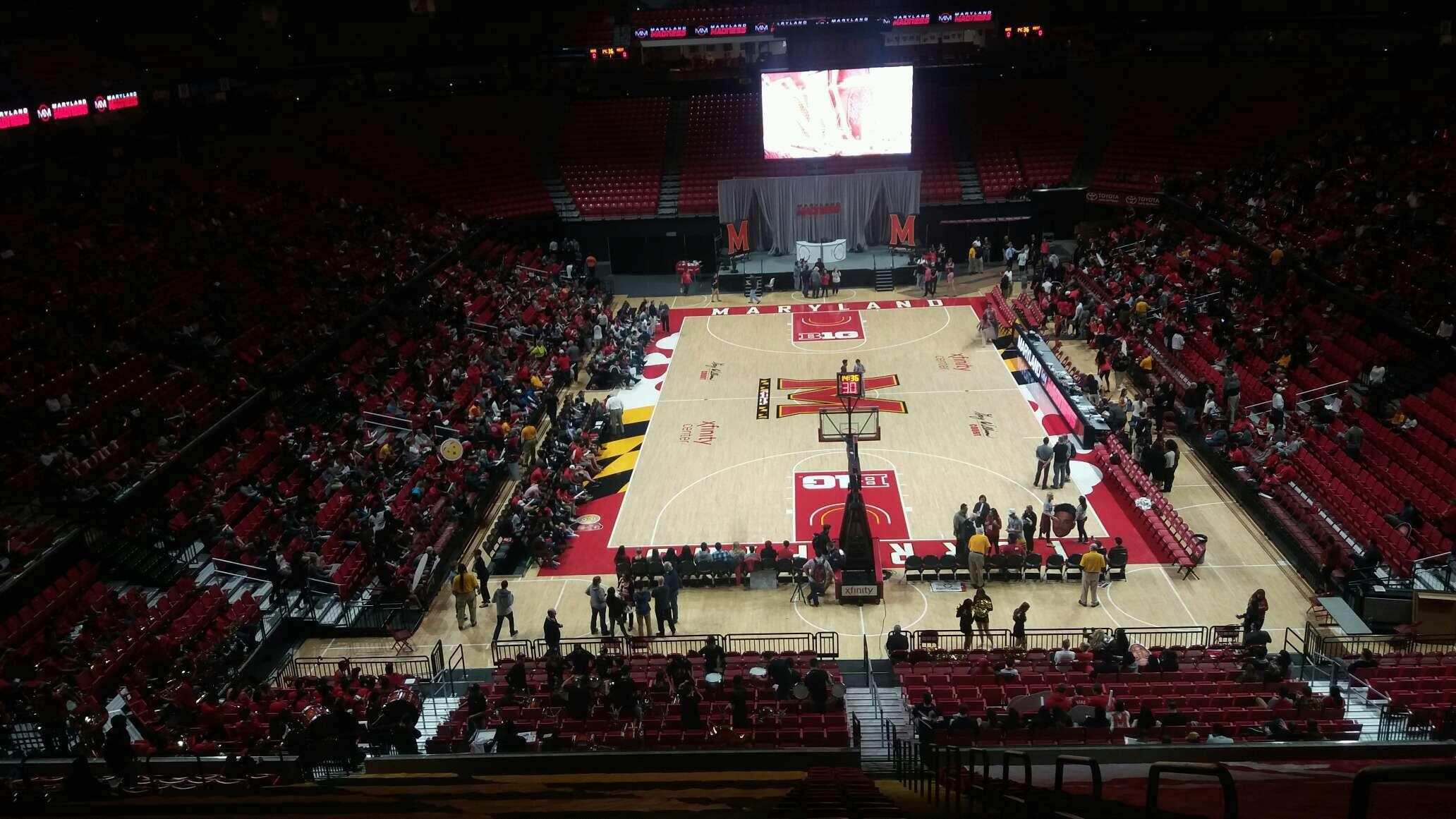 Xfinity Center (Maryland) Section 120 Row 19 Seat 1