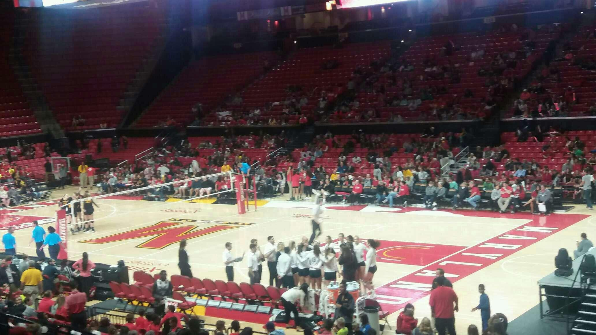 Xfinity Center (Maryland) Section 105 Row 8 Seat 20