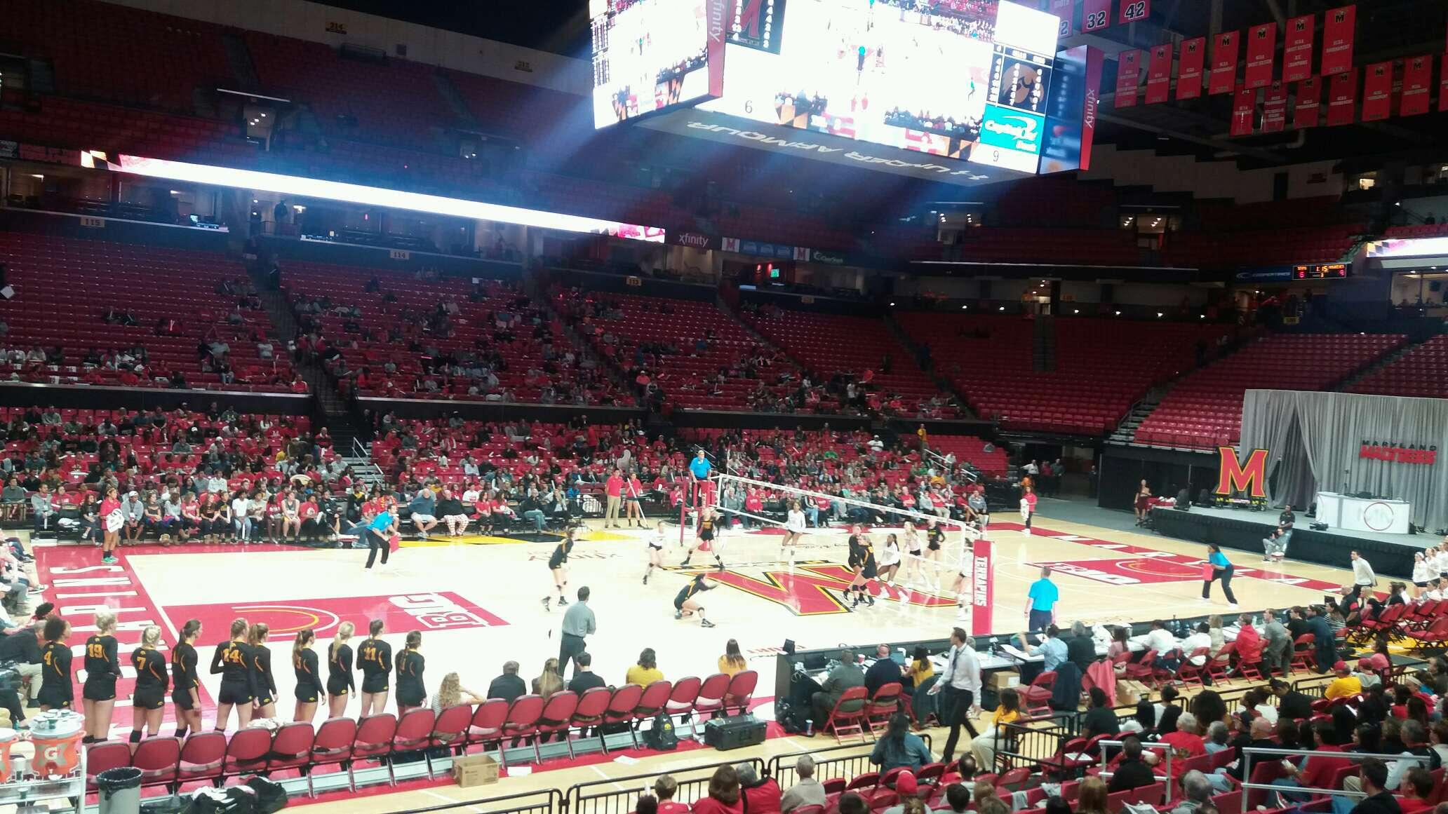 Xfinity Center (Maryland) Section 126 Row 3 Seat 17