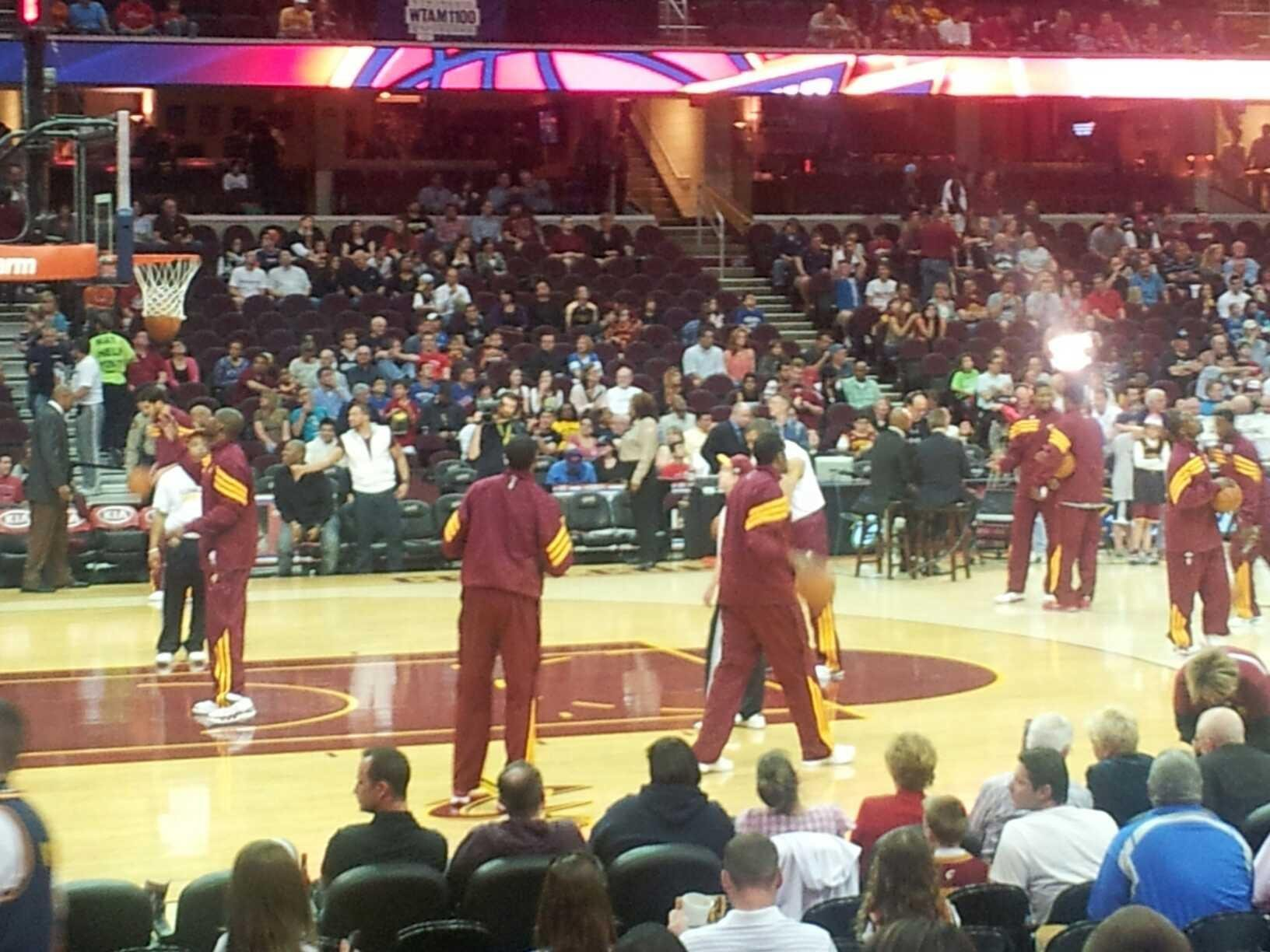 Seat View for Quicken Loans Arena Section 107 Row 10