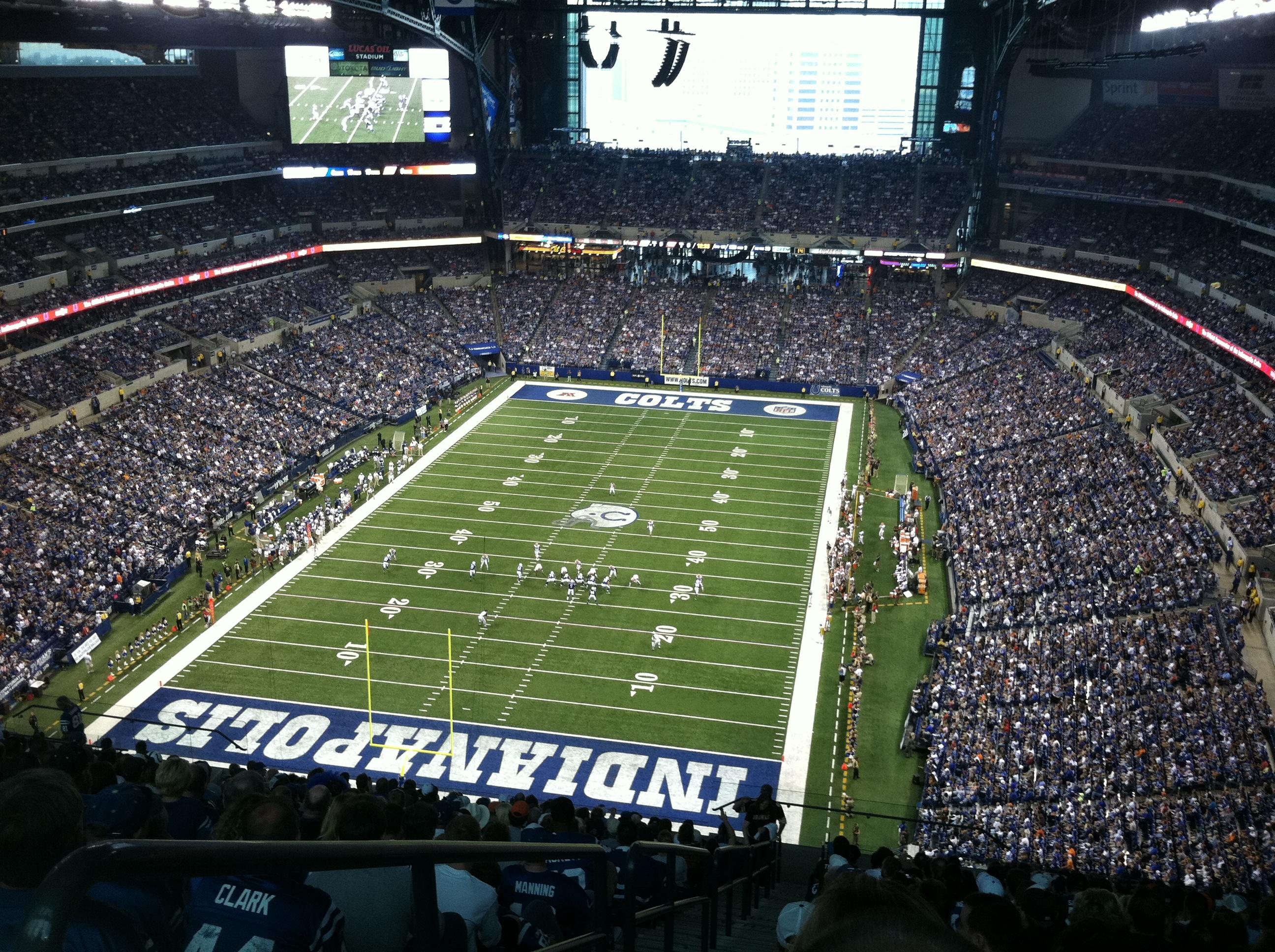 Lucas oil stadium section 624 indianapolis colts for Terrace end zone lucas oil stadium