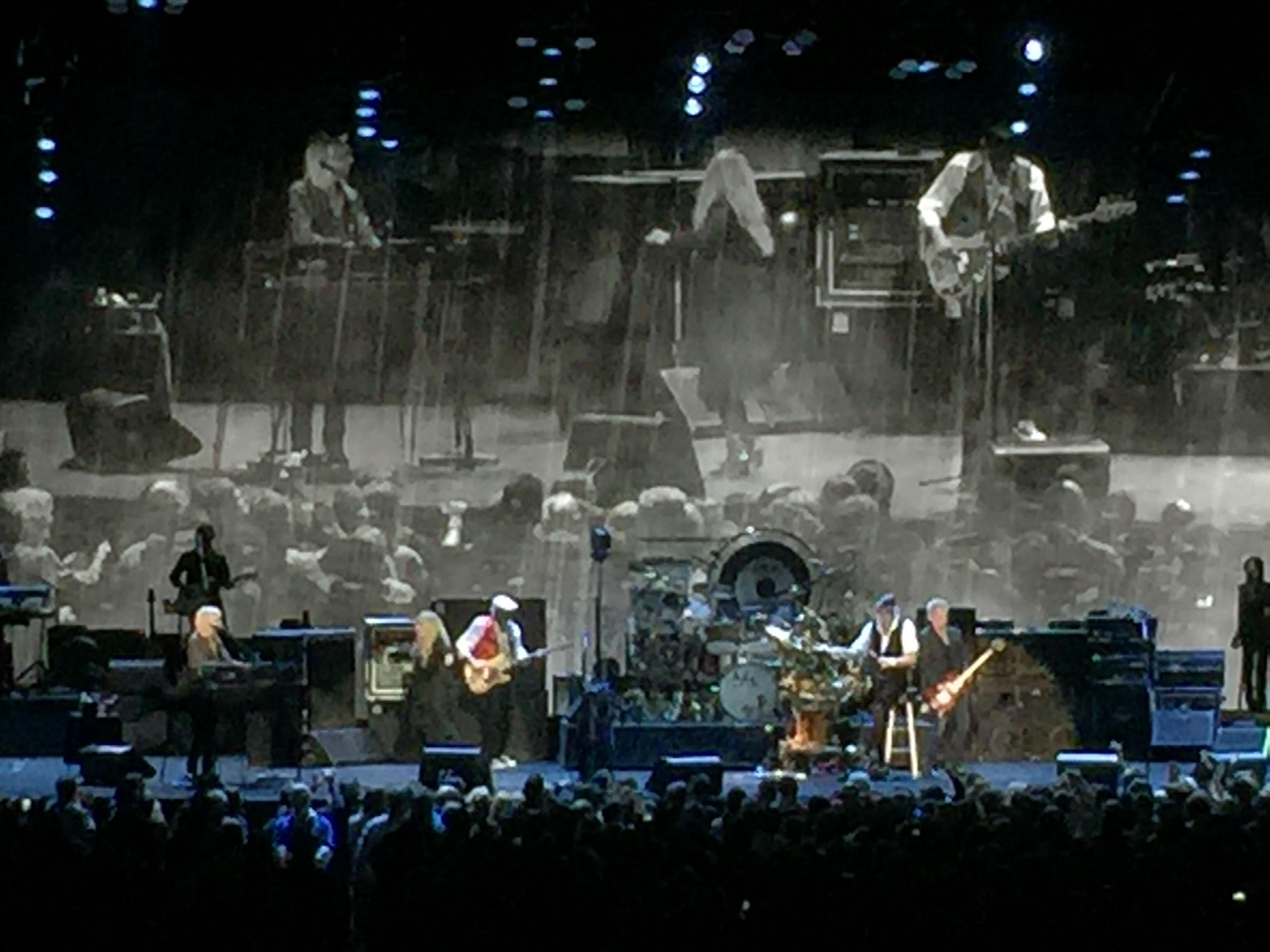 Oracle Arena section 108 row 10 seat 11 - Fleetwood Mac 2014 vs On
