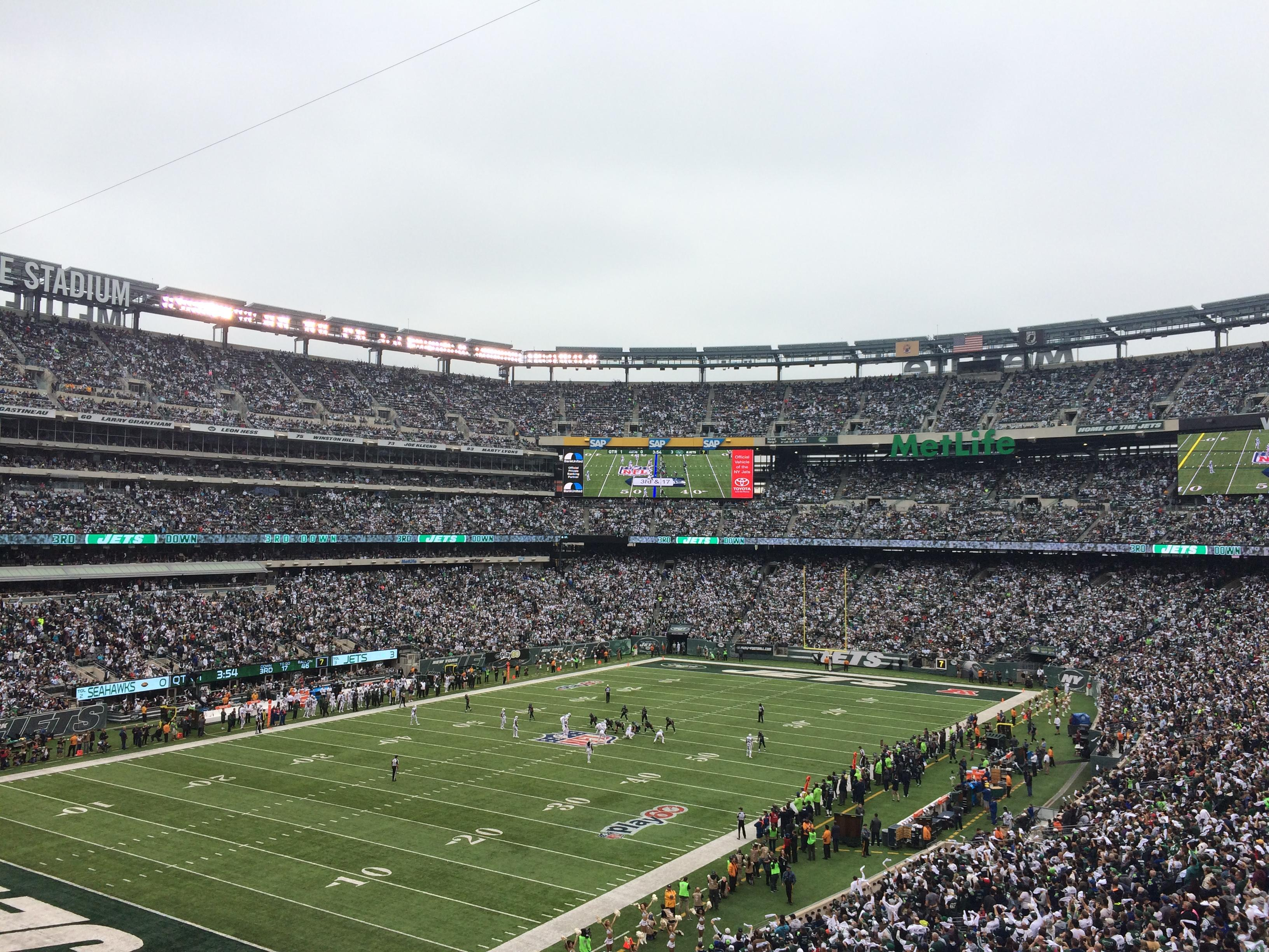 MetLife Stadium Section 245A Row 2 Seat 7